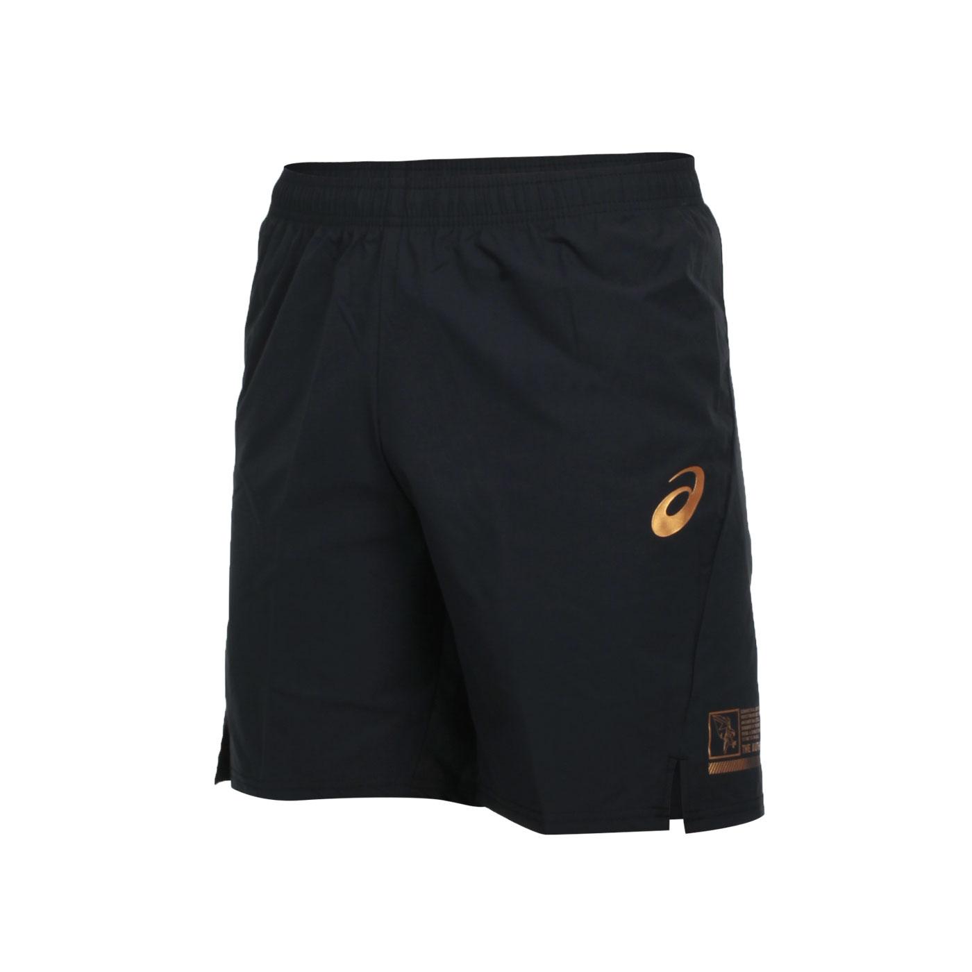 ASICS 男款排球短褲 2051A265-001 - 黑金