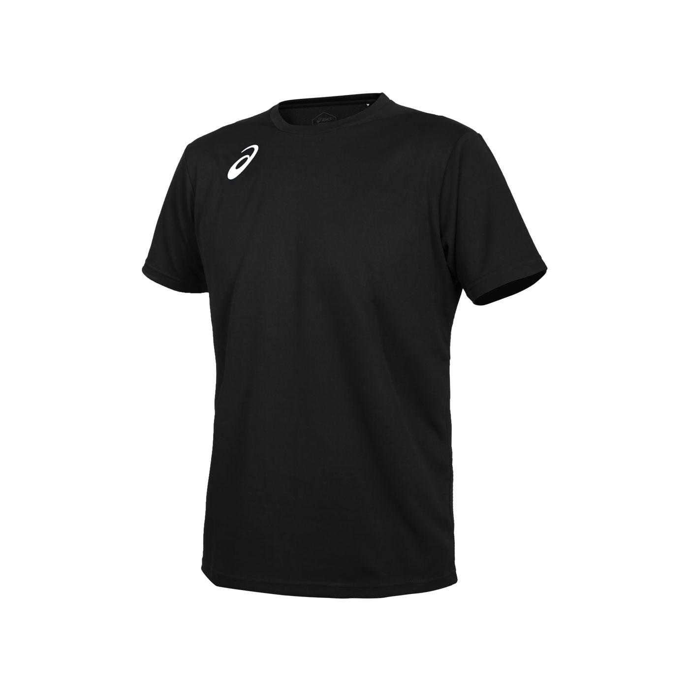 ASICS 男款排羽球短袖T恤 2051A295-001 - 黑白