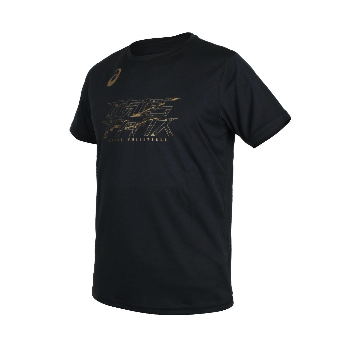 ASICS 男款短袖T恤 2051A296-003 - 黑金
