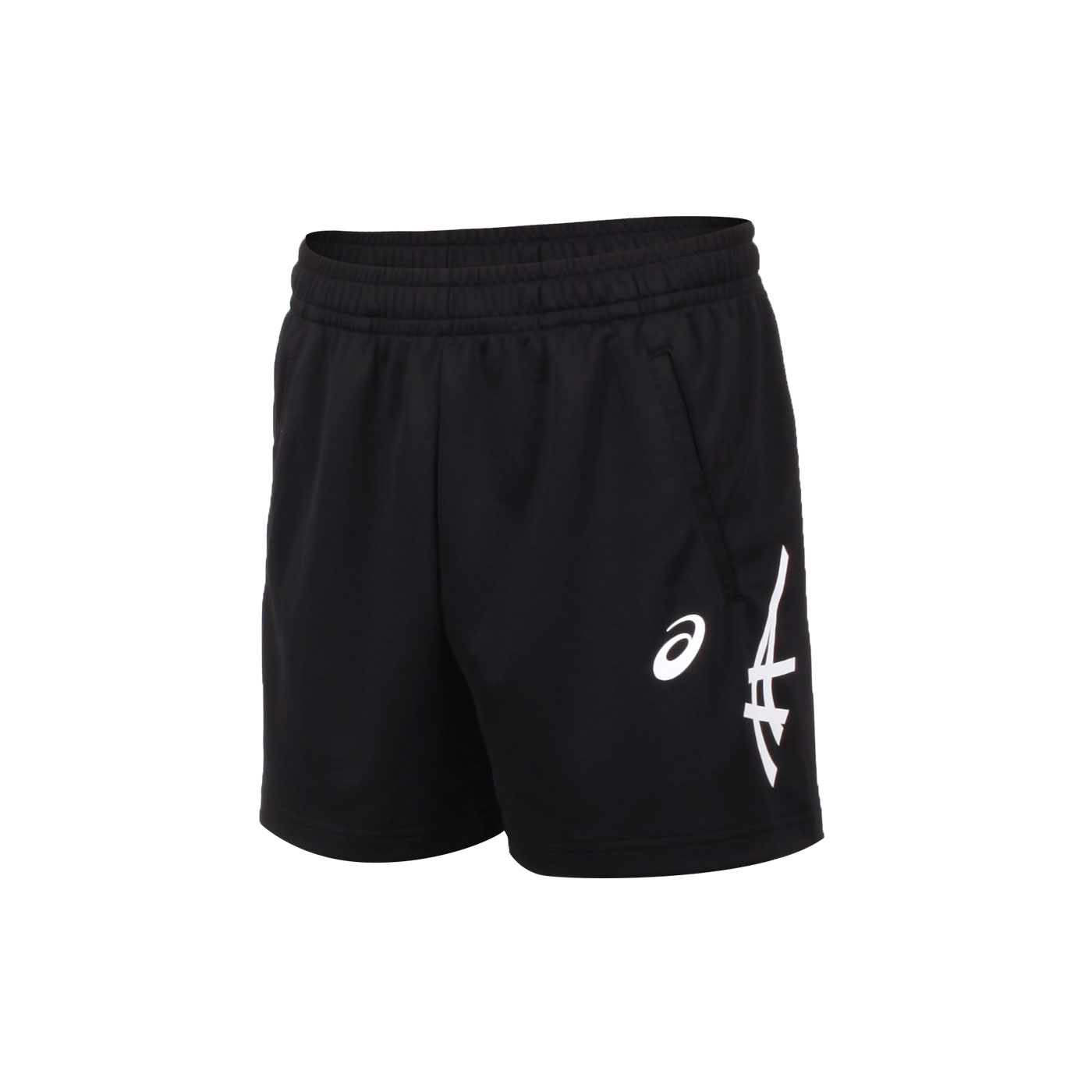 ASICS 男款短版球褲 2053A138-001 - 黑白