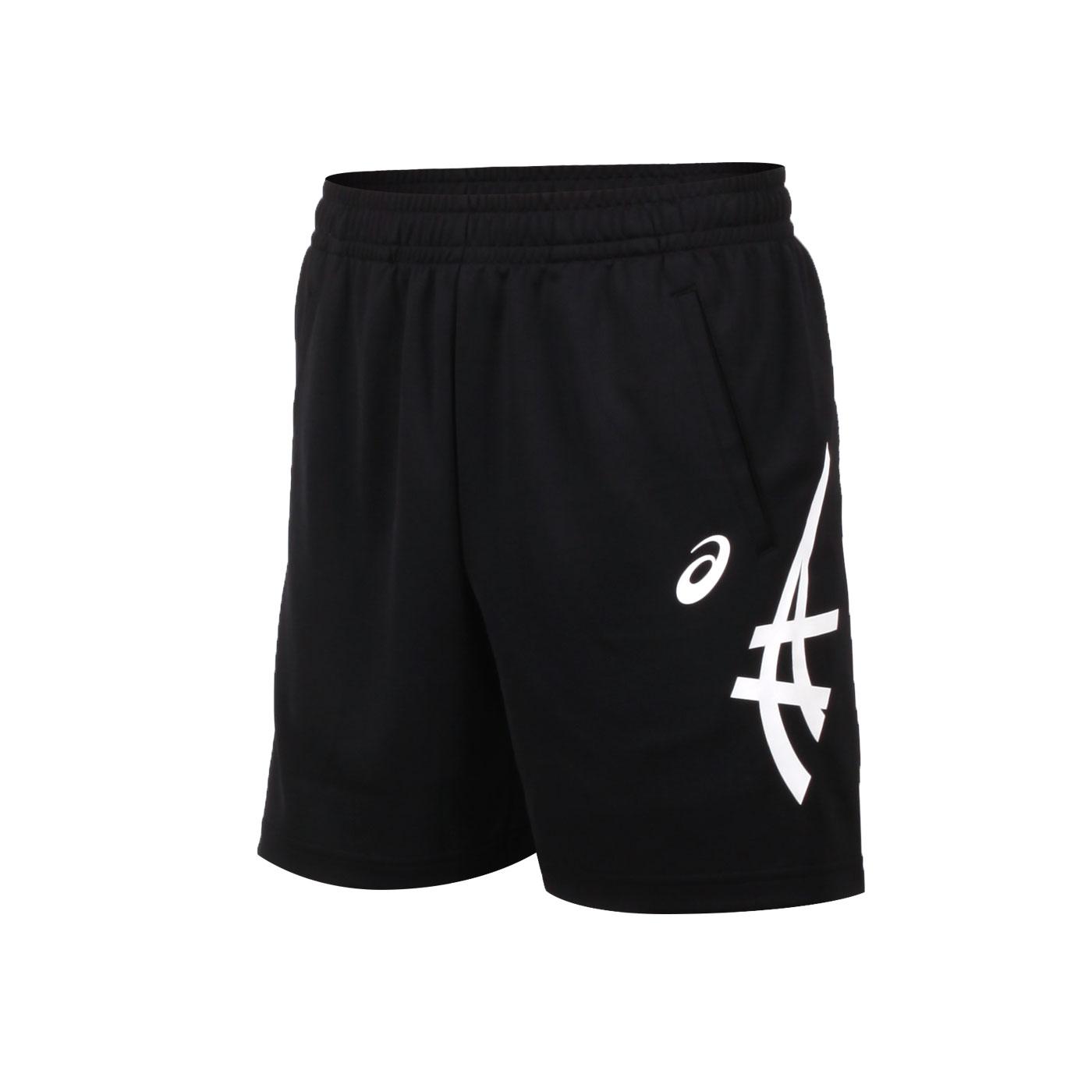 ASICS 男款長版球褲 2053A139-001 - 黑白