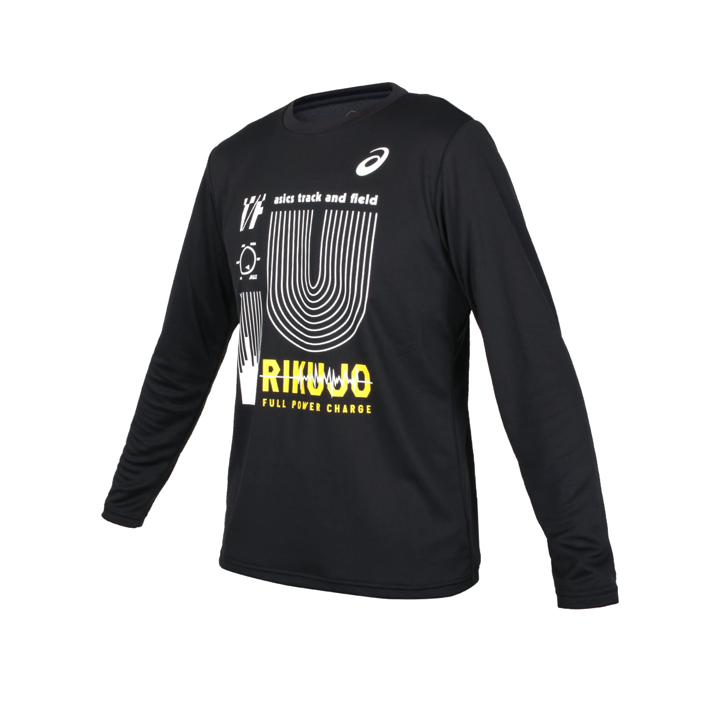 ASICS 男款長袖T恤 2091A450-002 - 黑白黃