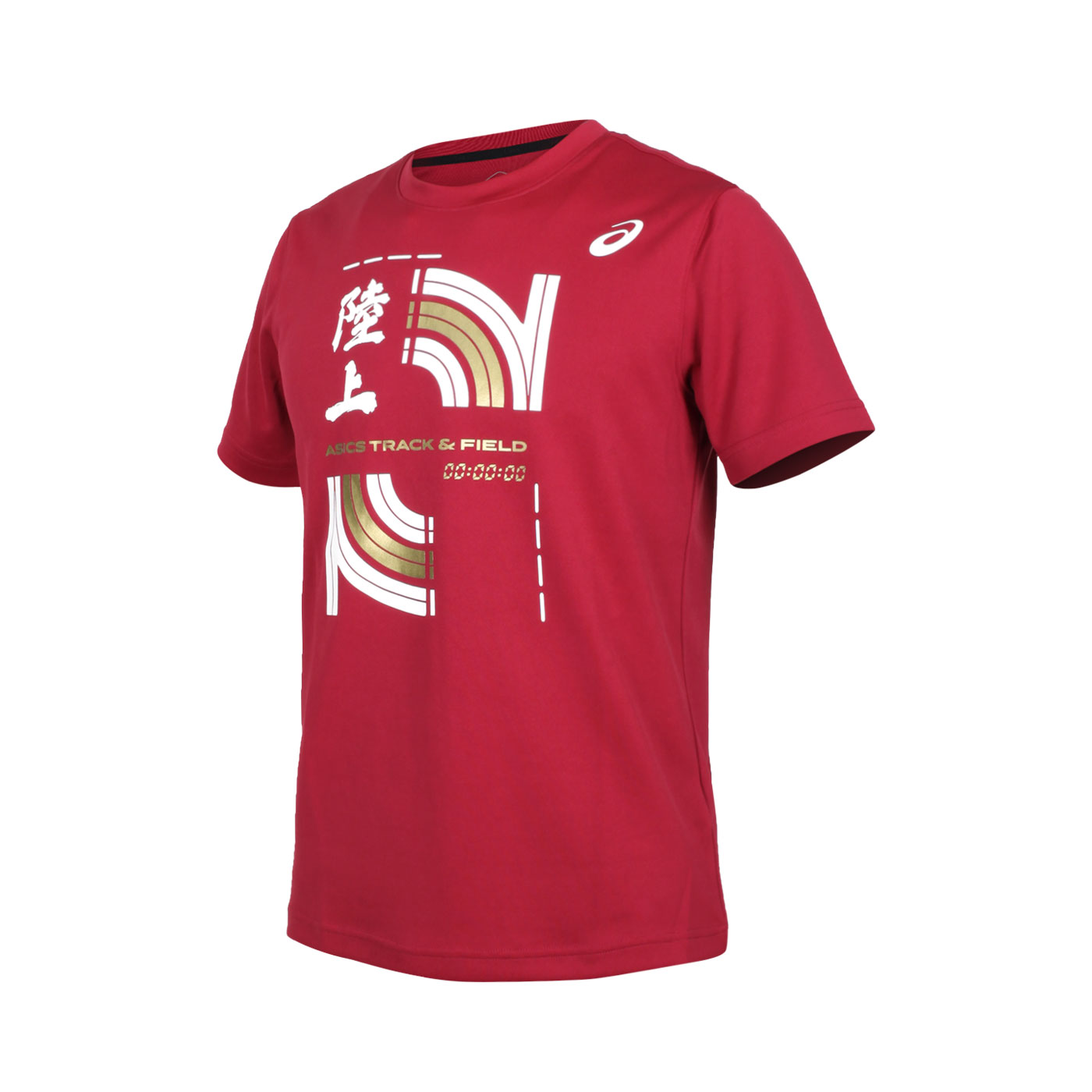 ASICS 男款短袖T恤 2093A127-600 - 紅白金