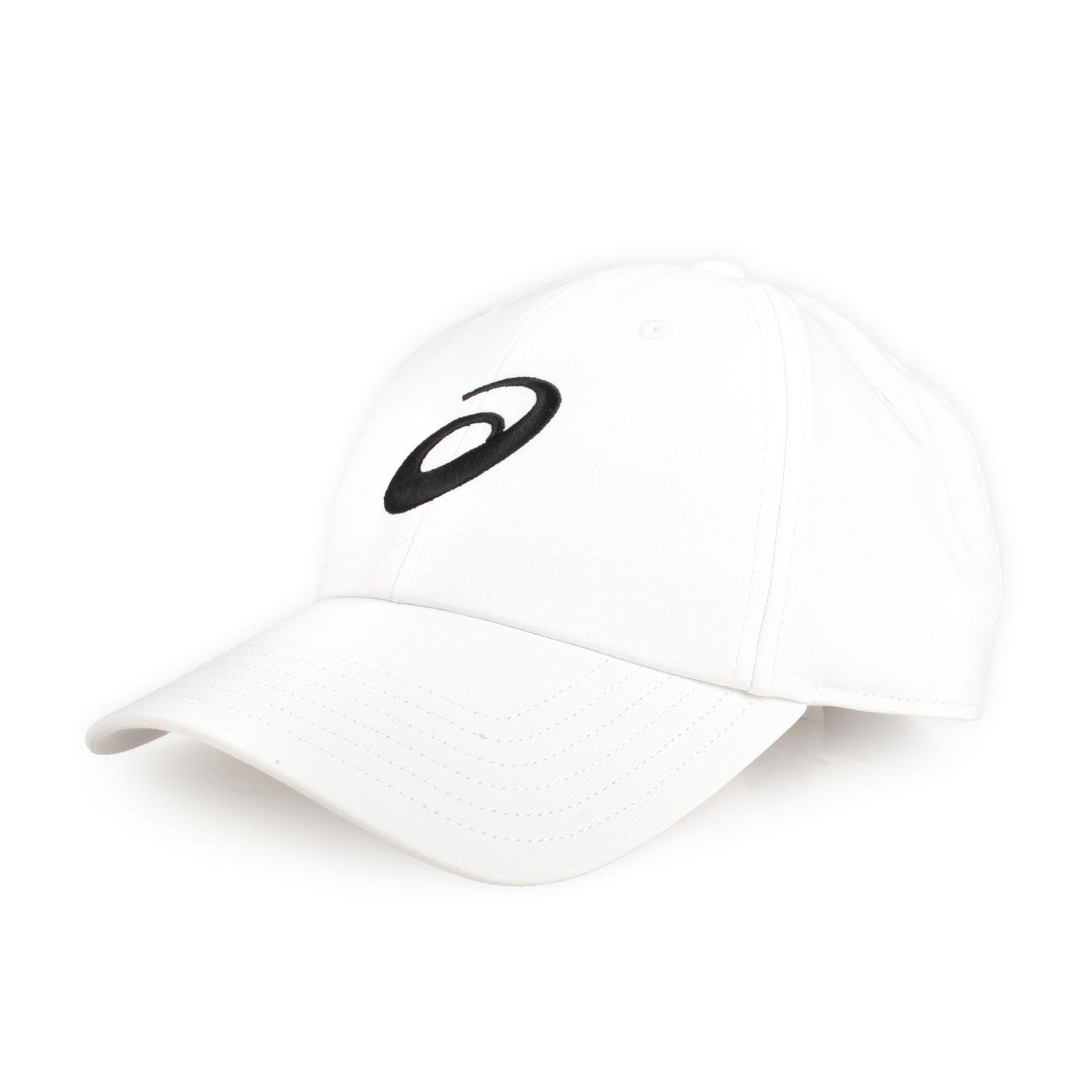 ASICS 慢跑帽 3013A163-100 - 白黑