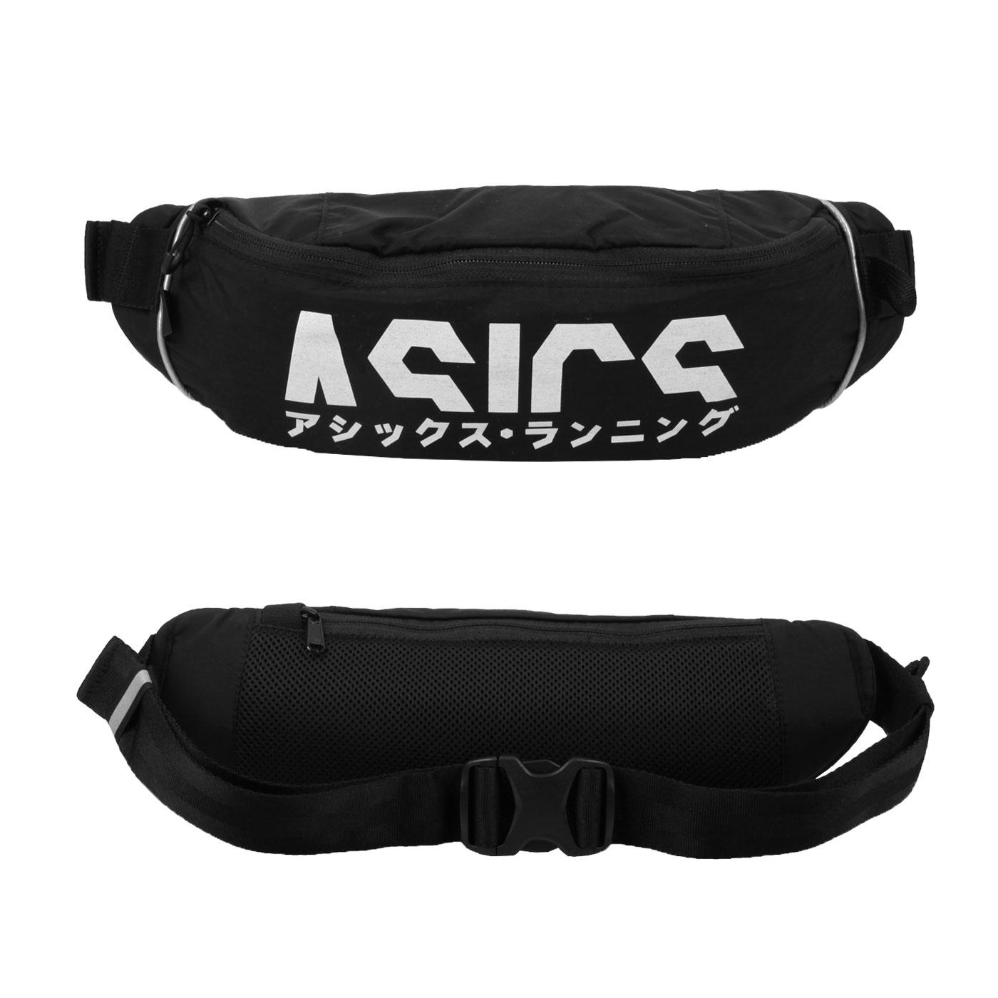 ASICS 片假名腰包 3013A428-001 - 黑銀