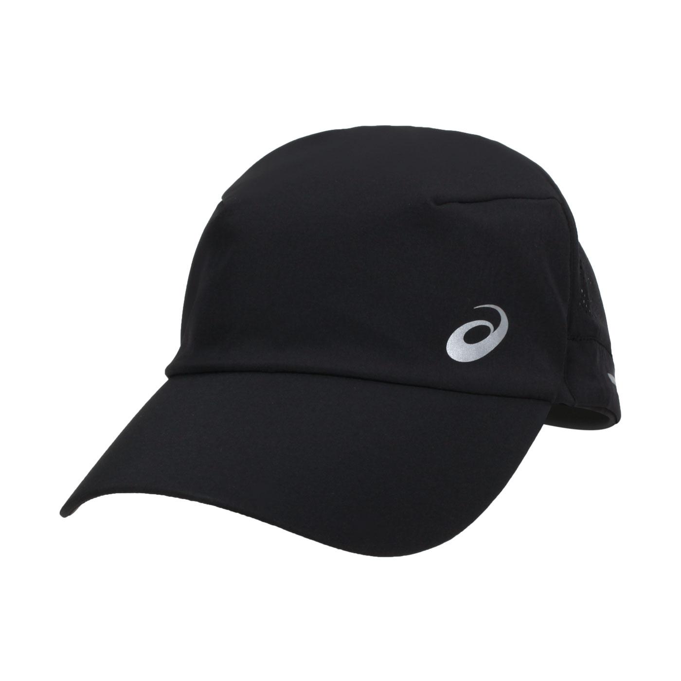 ASICS 跑步透氣帽 3013A457-002 - 黑銀