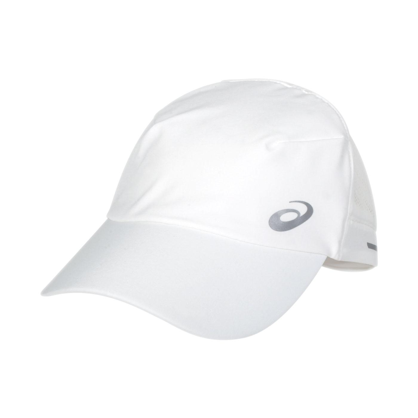 ASICS 跑步透氣帽 3013A457-101 - 白銀