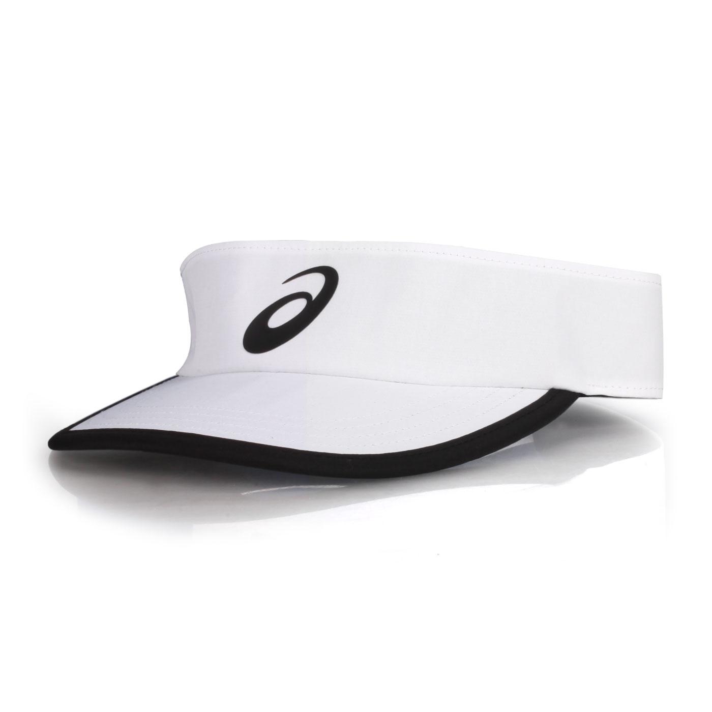 ASICS 遮陽帽 3043A018-100 - 白黑
