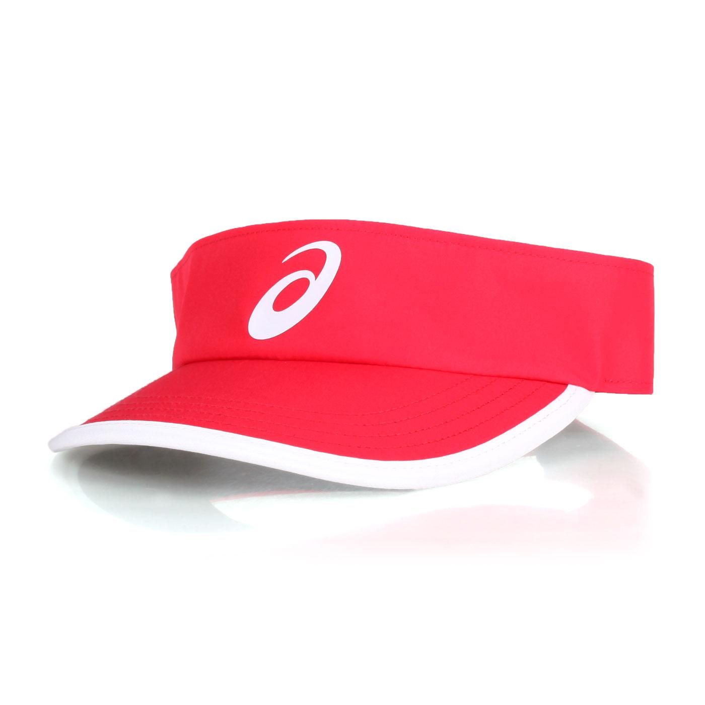 ASICS 遮陽帽 3043A018-100 - 紅白黑