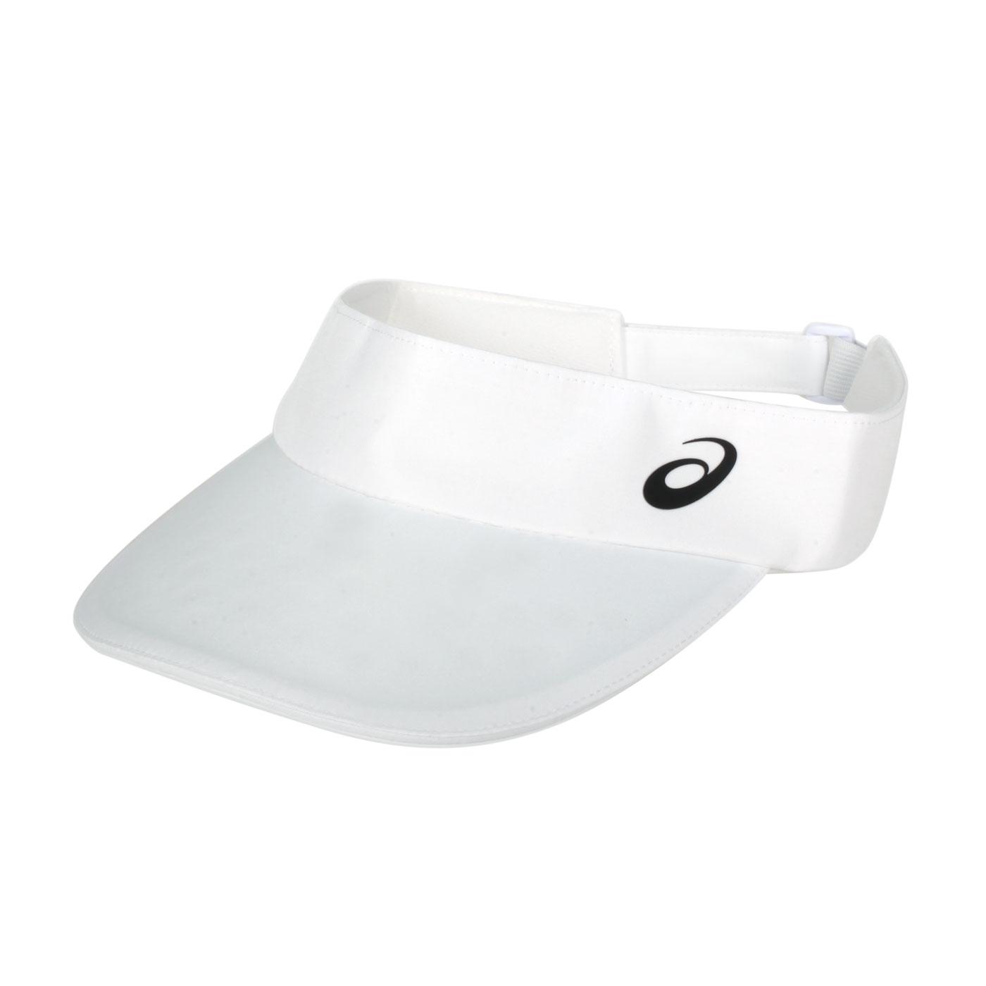 ASICS 網球中空帽 3043A047-101 - 白黑