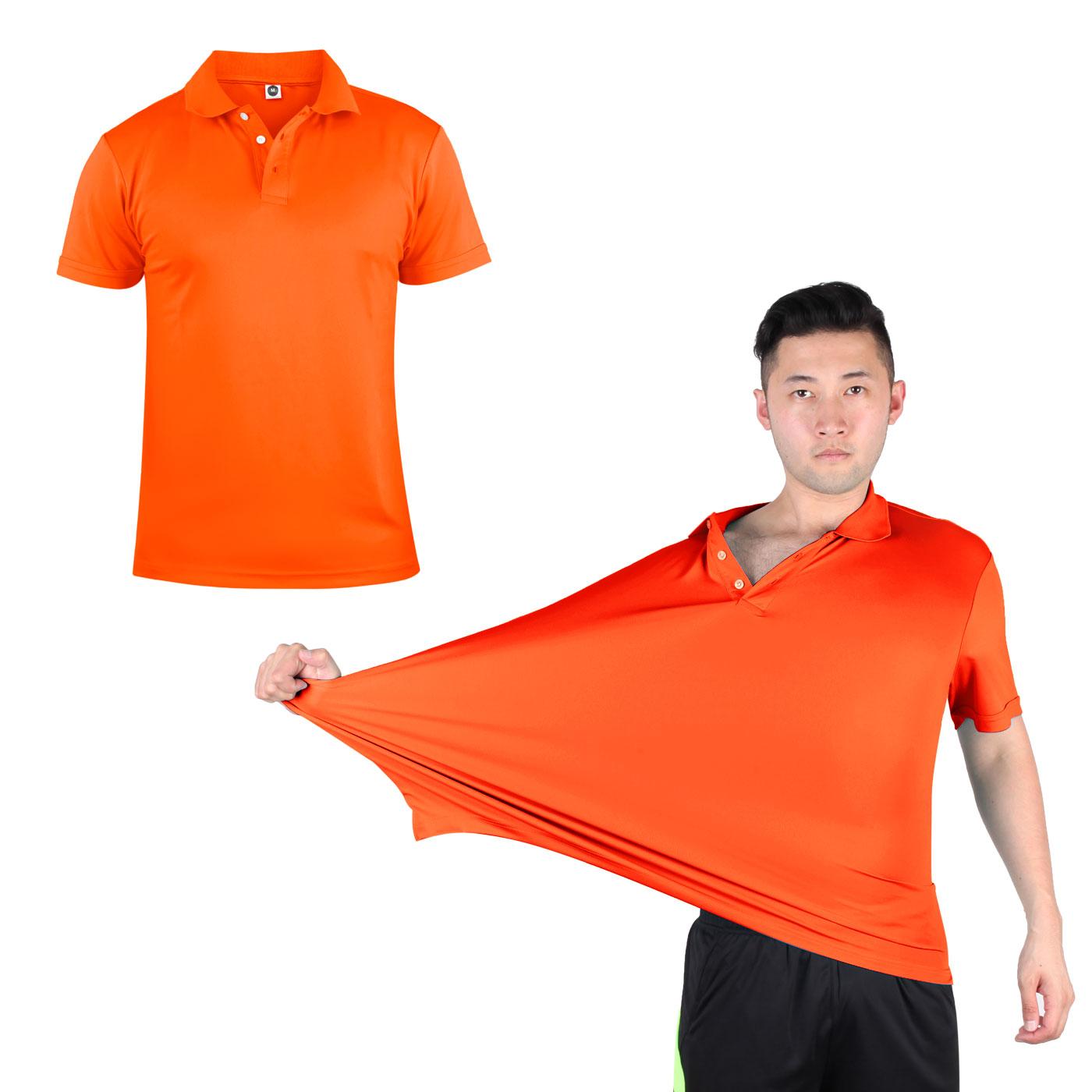HODARLA 彈力涼感短袖POLO衫 3113901 - 螢光橘