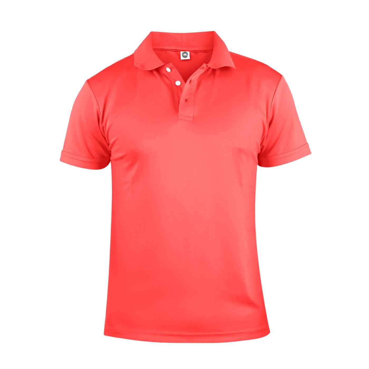 HODARLA 彈力涼感短袖POLO衫 3113901 - 螢光粉