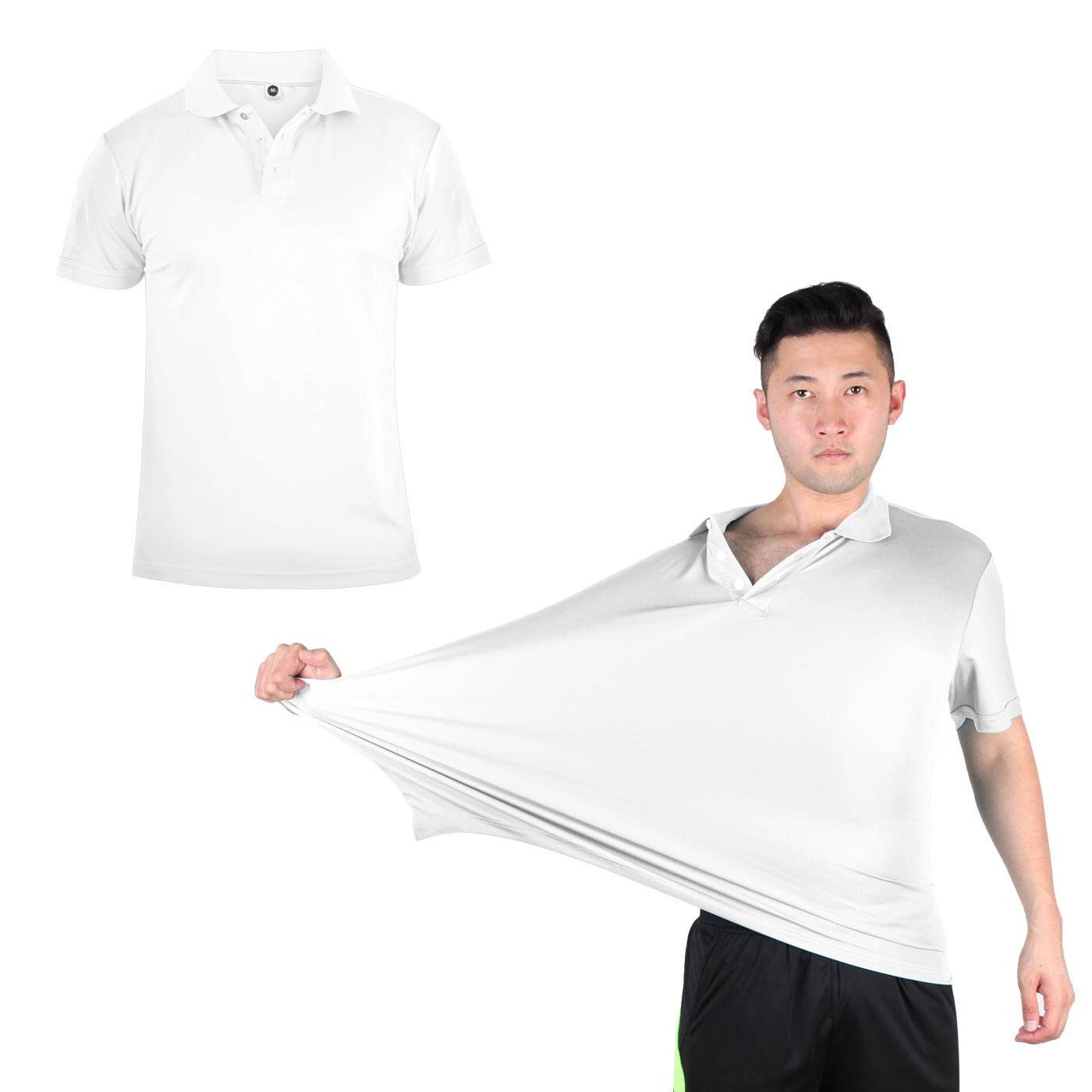 HODARLA 彈力涼感短袖POLO衫 3113901 - 白