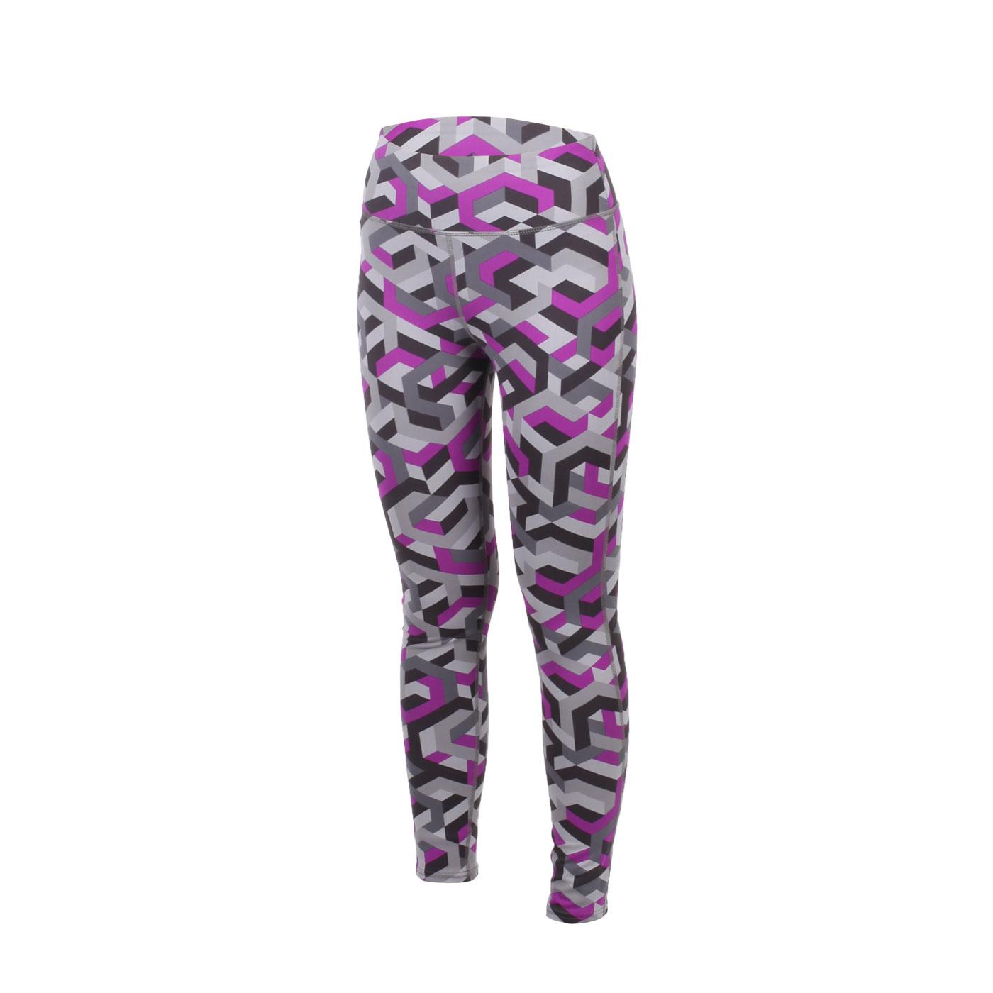 INSTAR 幾何女款緊身褲 3120401 - 灰黑紫