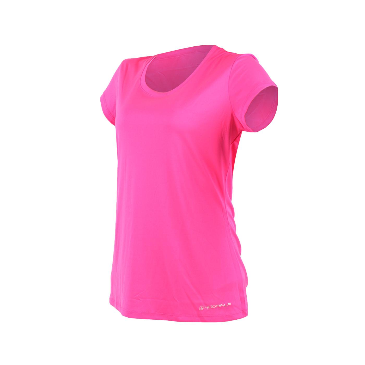 HODARLA 女款晶漾拼接短袖T恤 3125202 - 透明粉紅