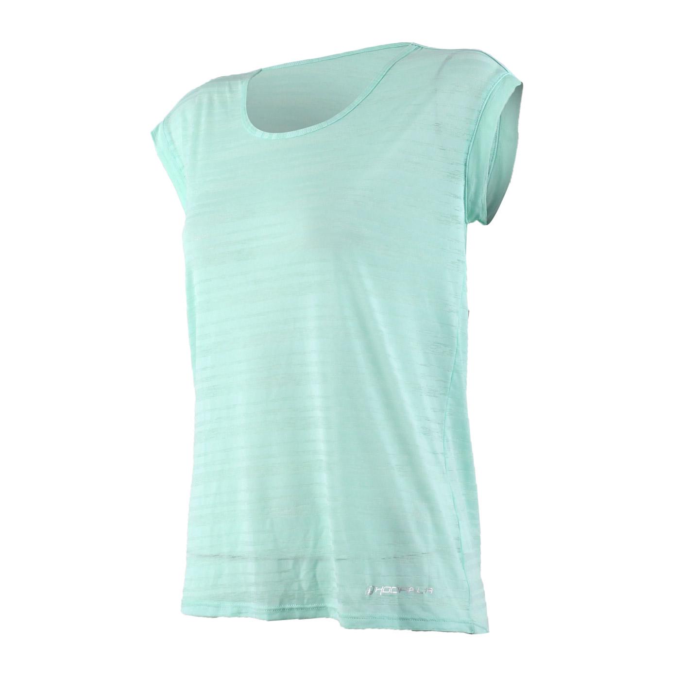 HODARLA 女款輕羽透膚短袖T恤 3126701 - 粉綠