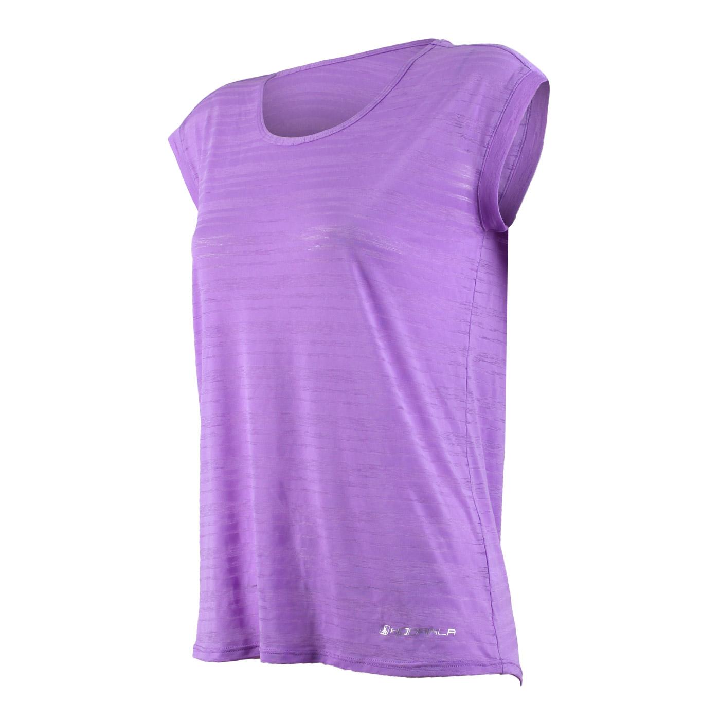 HODARLA 女款輕羽透膚短袖T恤 3126701 - 紫