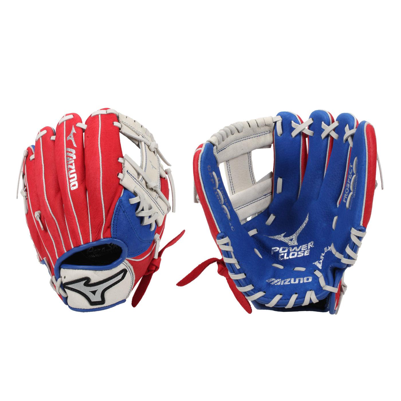 MIZUNO 少年用手套-右投 312777-R - 紅藍銀