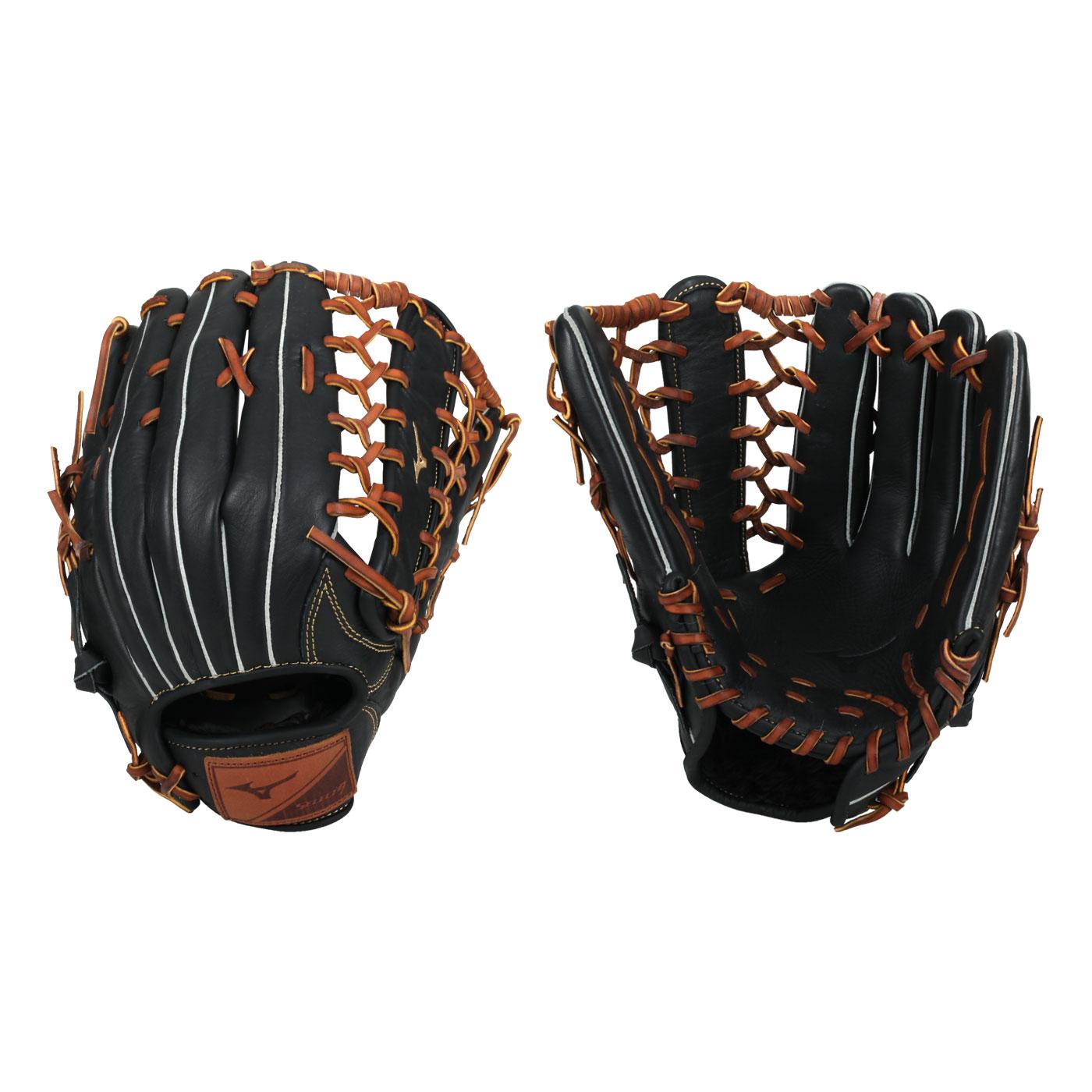 MIZUNO 棒球手套-右投 312849-R - 黑棕