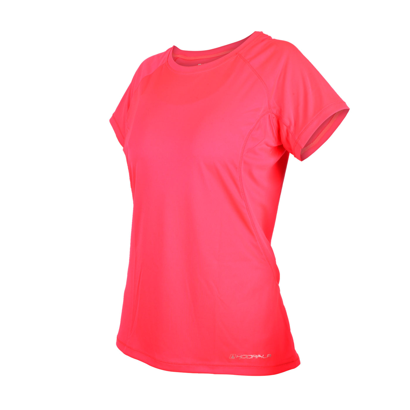 HODARLA 女款星悅無感短袖T恤 3135102 - 螢光粉