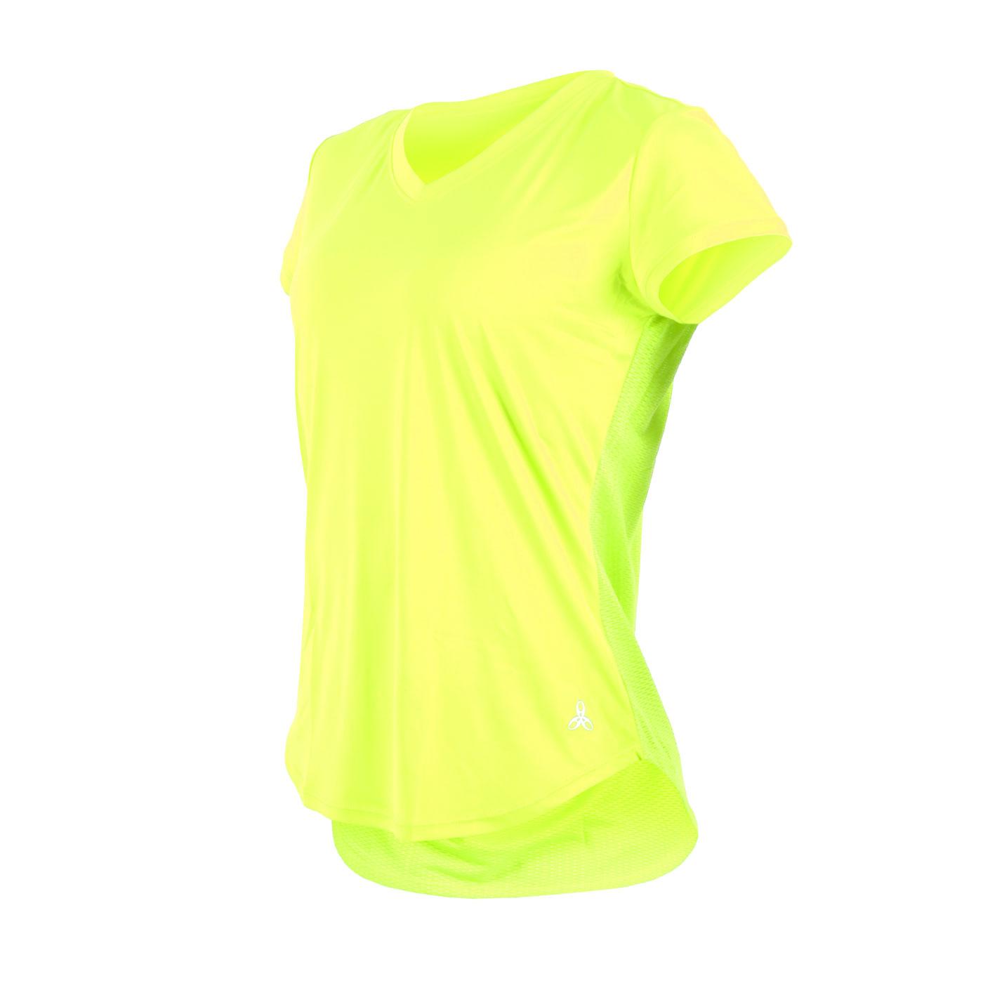 HODARLA 女款繽漾剪接短袖T恤 3136602 - 螢光黃