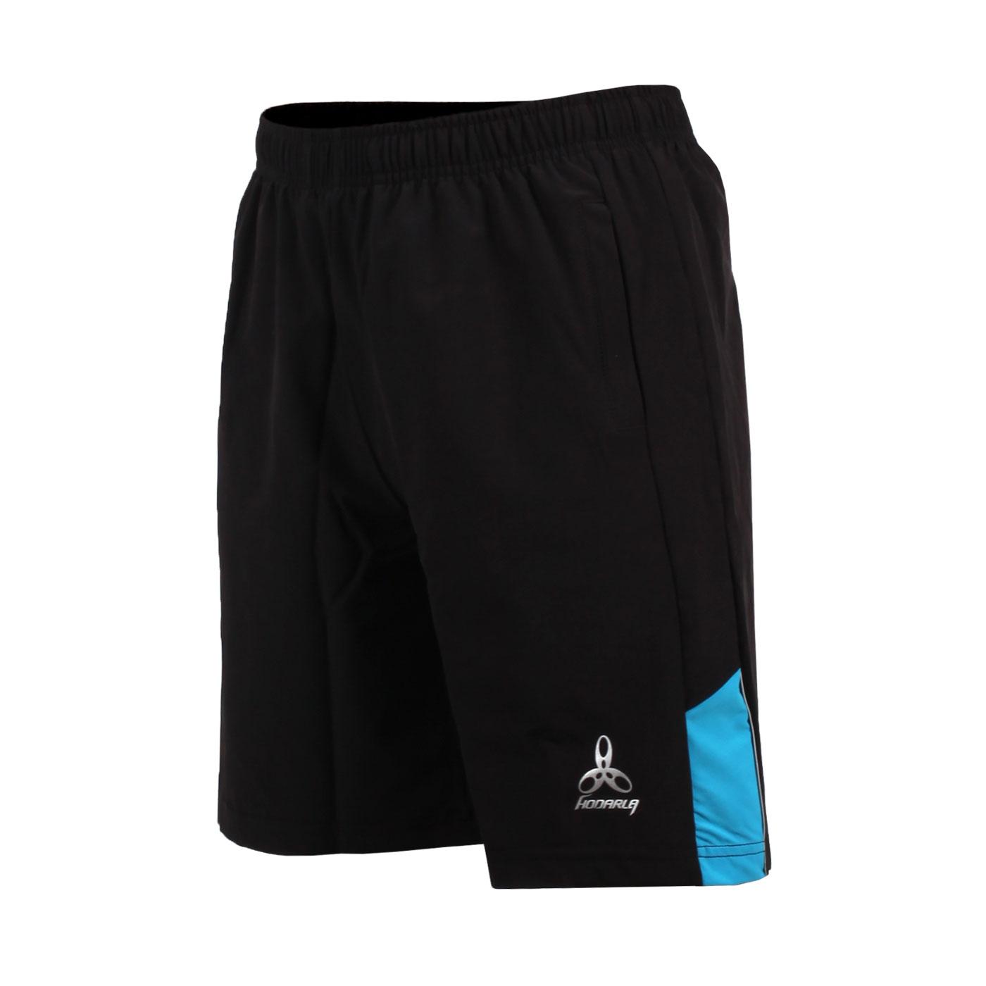 HODARLA 男-競技平織彈性短褲 3139001 - 黑淺藍