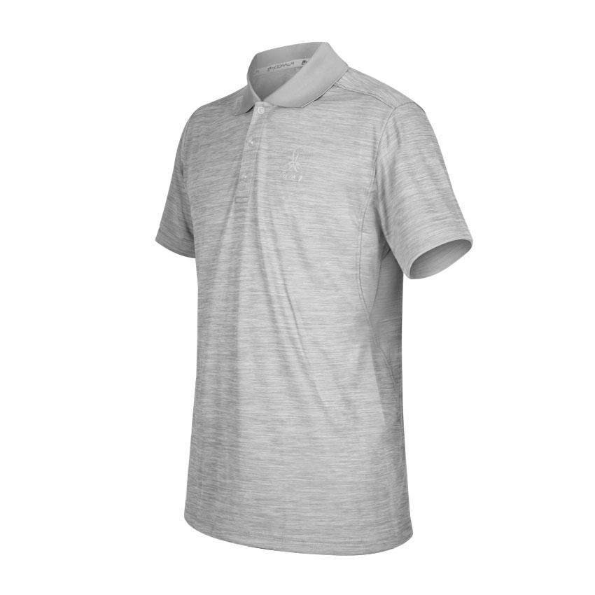 HODARLA 星宿剪接短袖POLO衫 3153801 - 麻花深灰