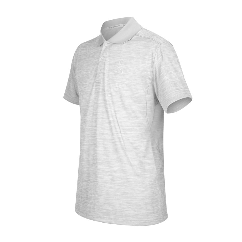 HODARLA 星宿剪接短袖POLO衫 3153801 - 麻花淺灰