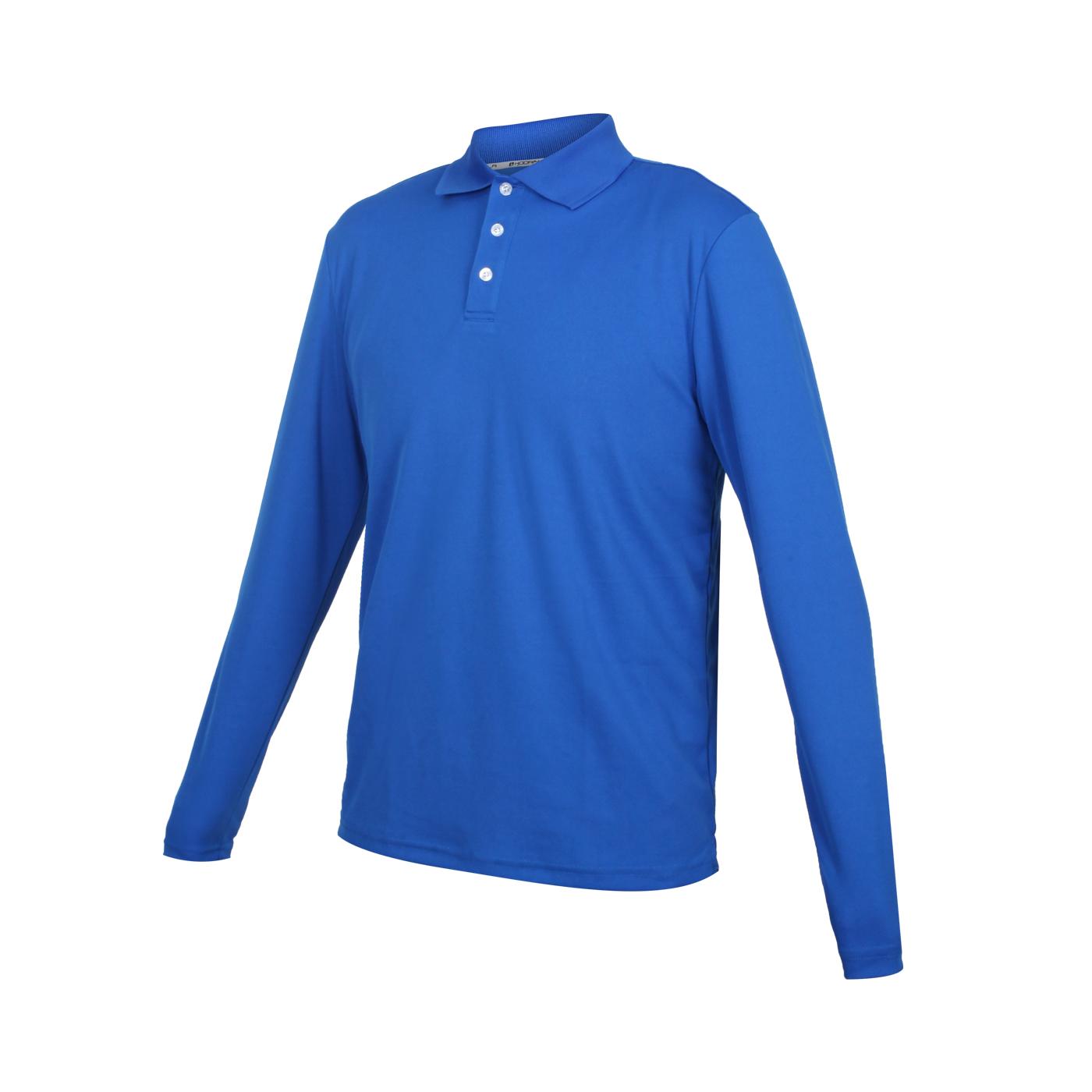 HODARLA 星際吸濕排汗長袖POLO衫 3161301 - 藍