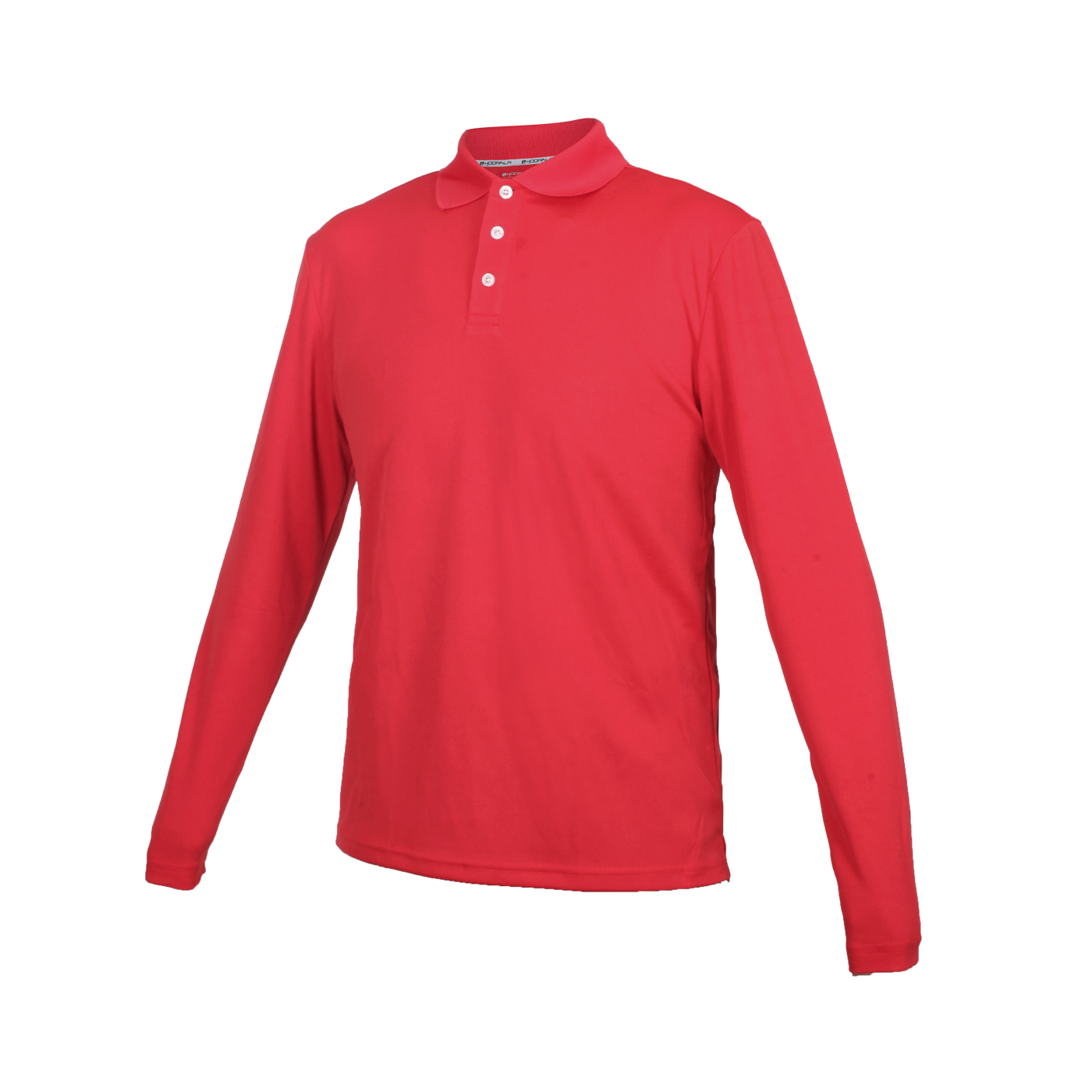 HODARLA 星際吸濕排汗長袖POLO衫 3161301 - 紅