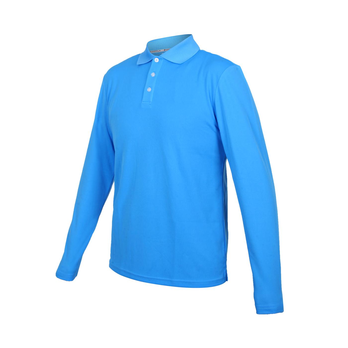 HODARLA 星際吸濕排汗長袖POLO衫 3161301 - 亮藍