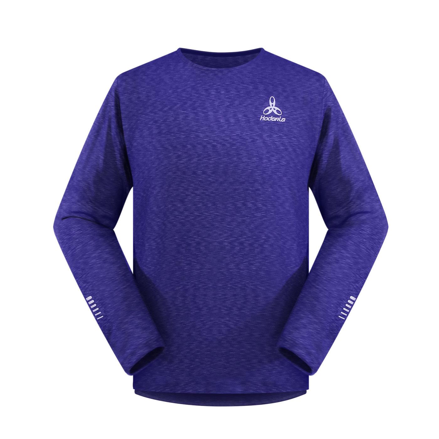 HODARLA 辰風保暖長袖T恤 3161401 - 麻花藍