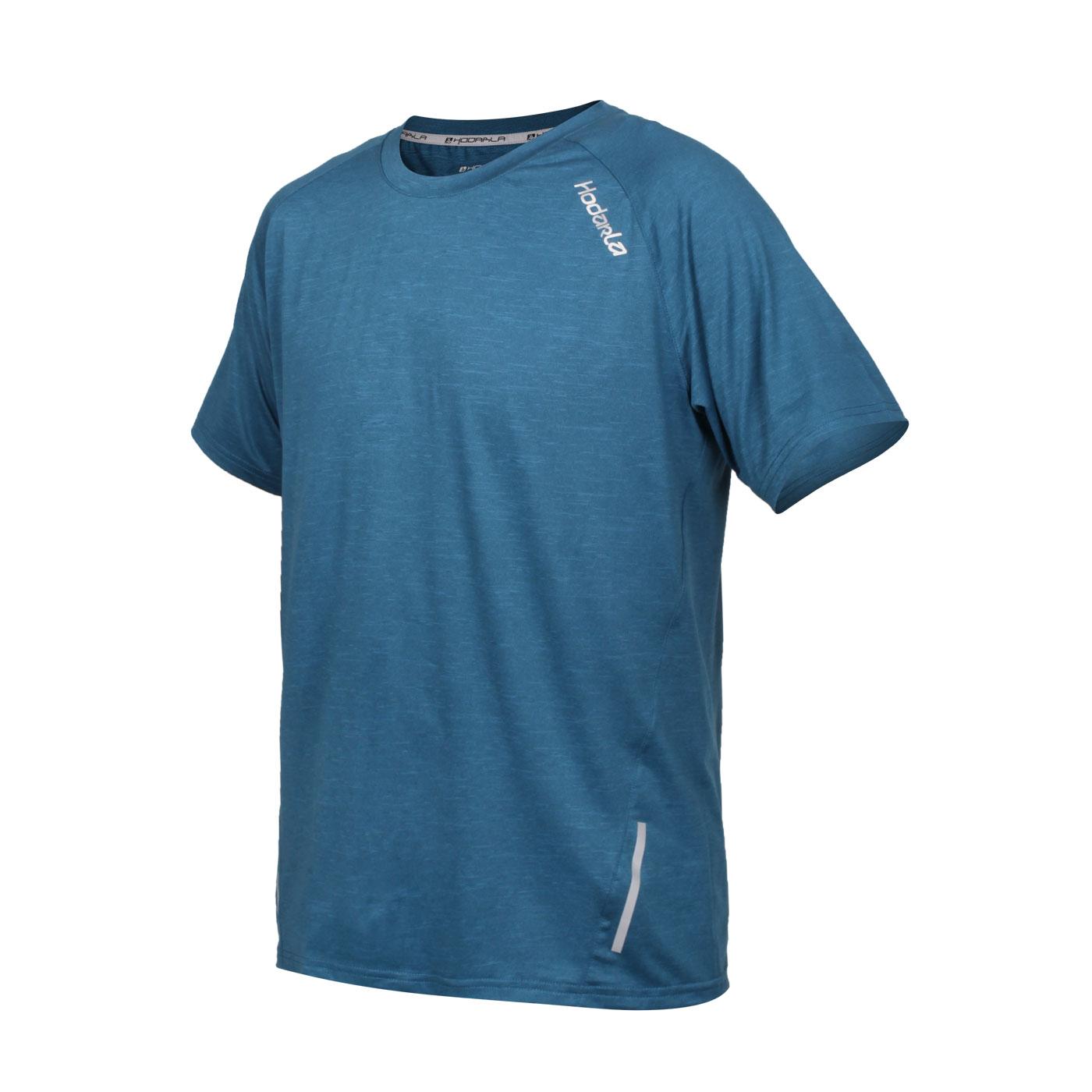 HODARLA 英速剪接短袖圓領衫 3162401 - 麻花藍綠