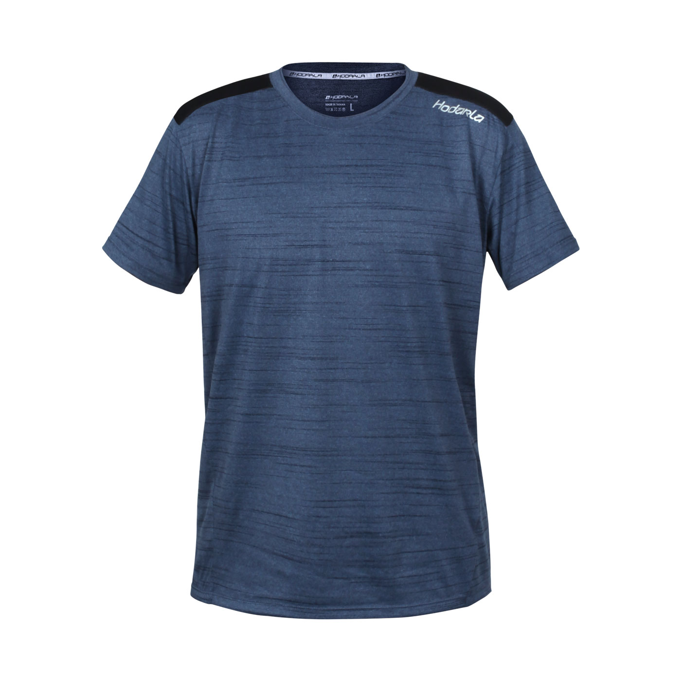 HODARLA 躍動剪接短袖圓領衫 3162501 - 麻花藍