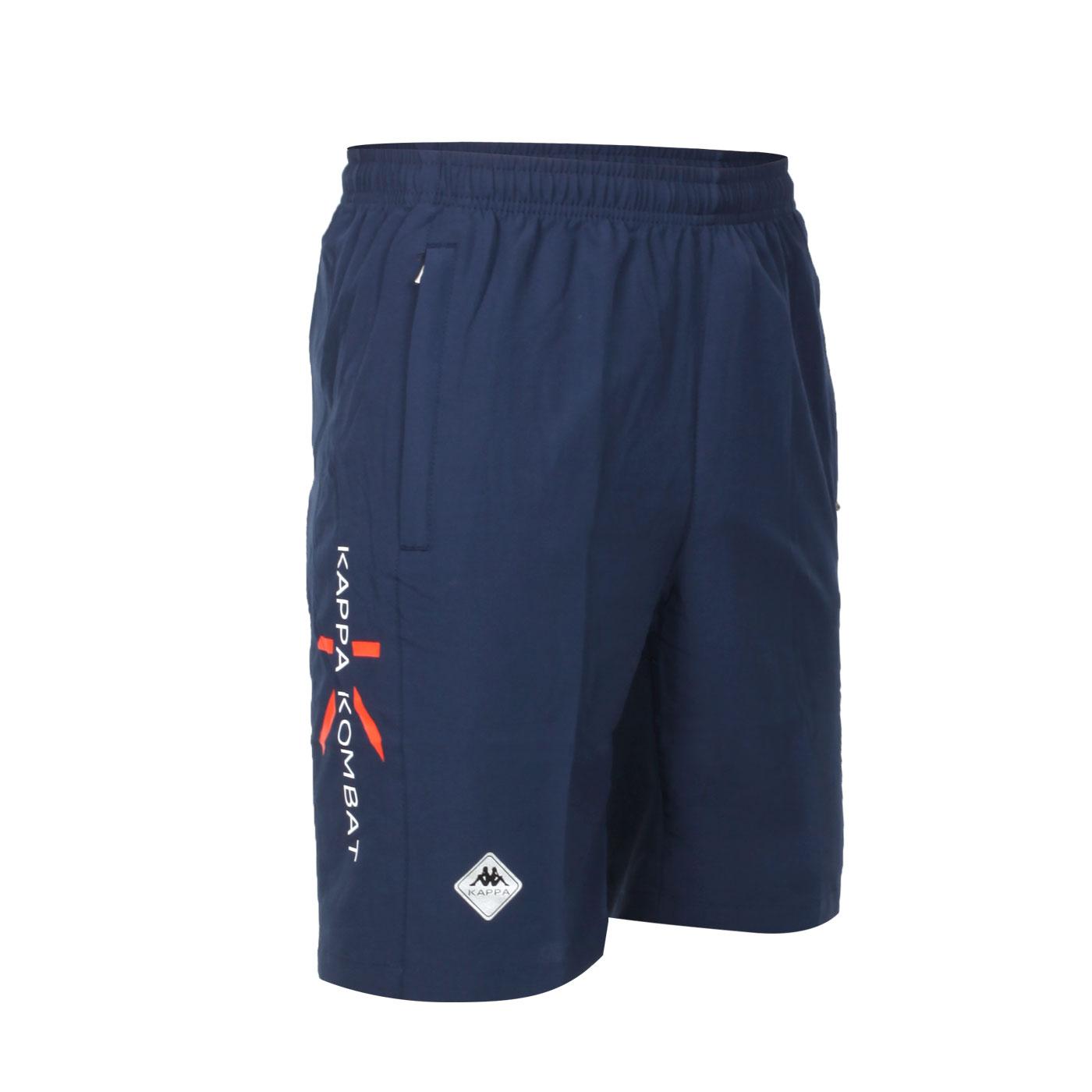 KAPPA 男款K4T單層半短褲 32166UW-B29 - 丈青白橘