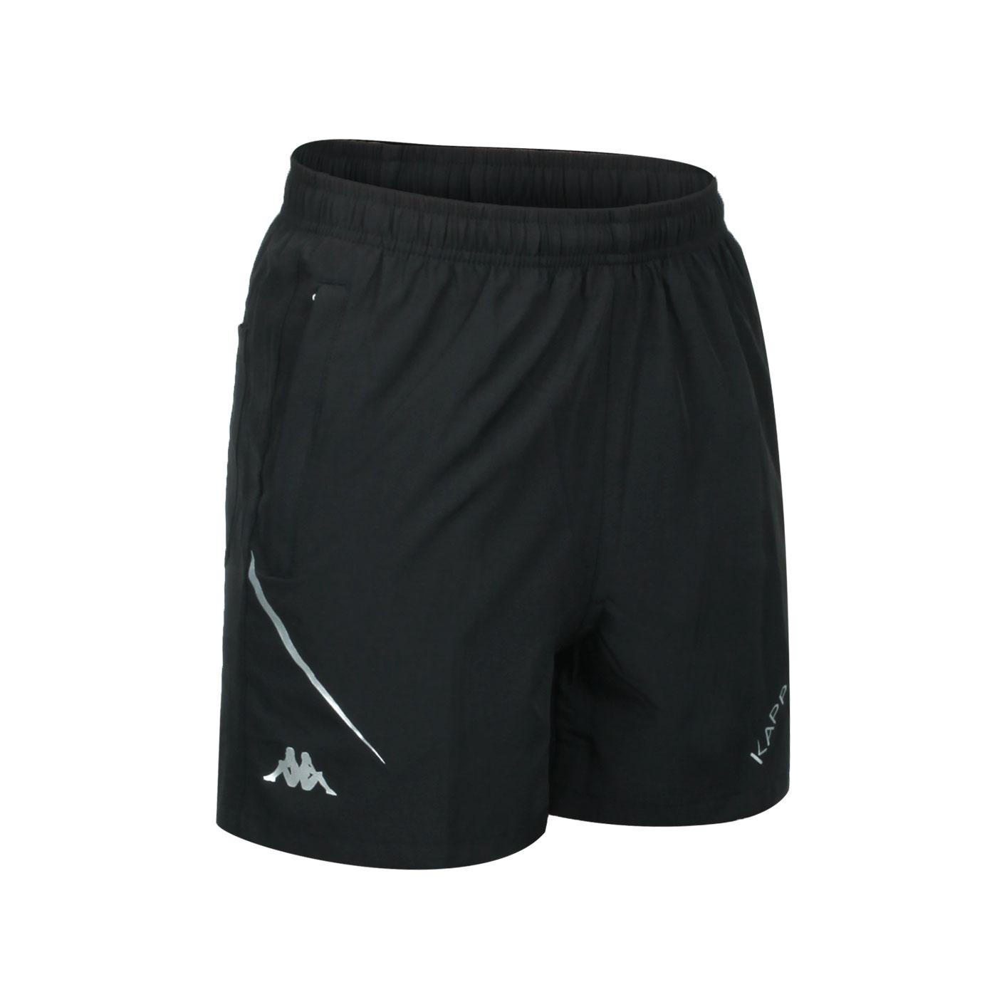 KAPPA 男款K4T單層短褲 32166WW-005 - 黑銀