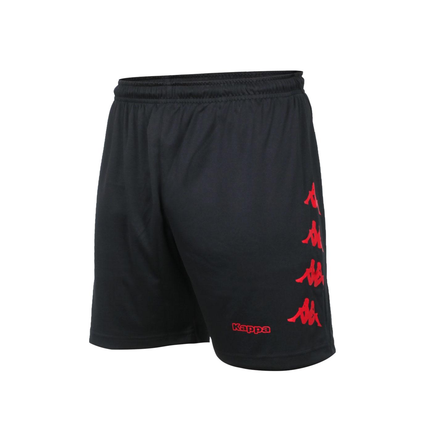 KAPPA 男款K4T針織短褲 32166YW-D18 - 黑紅