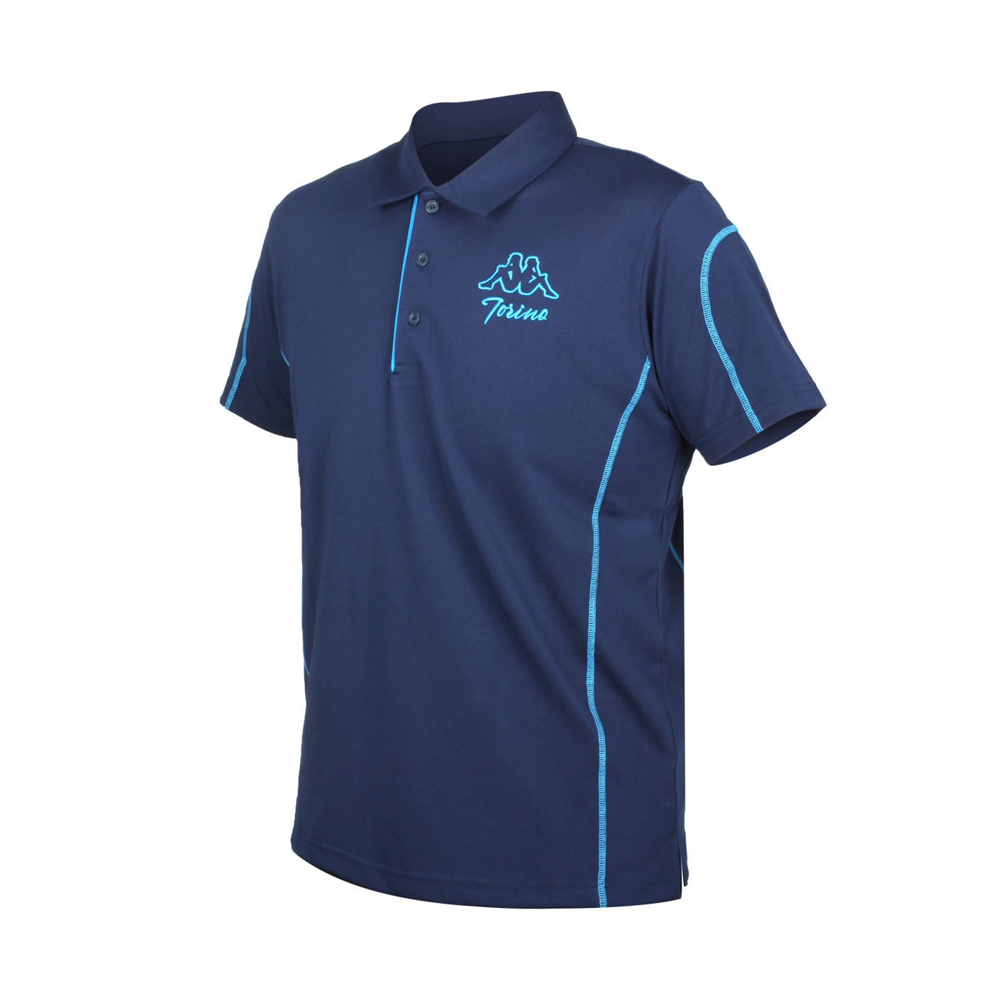 KAPPA 男款短袖POLO衫 321754W-B29 - 丈青藍