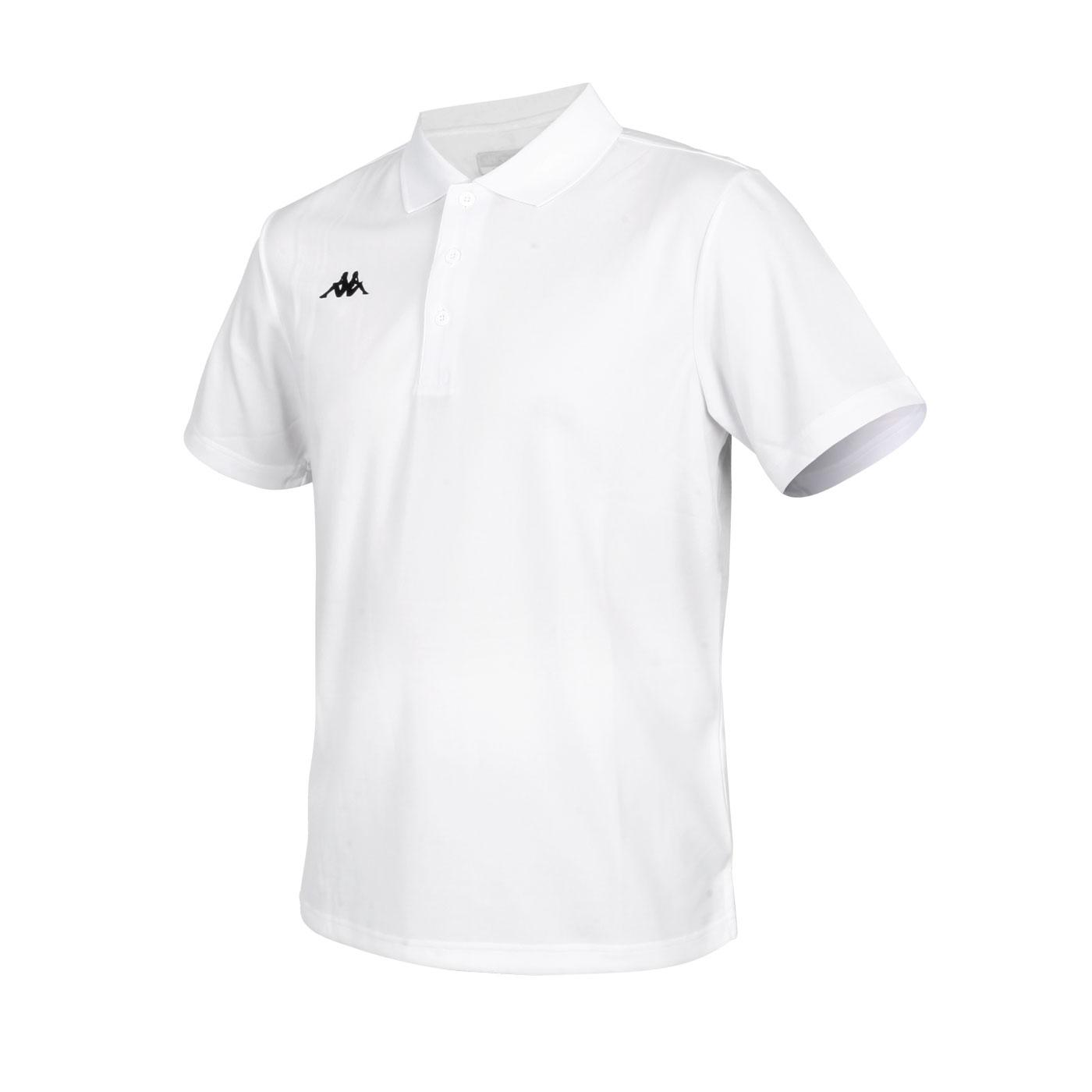 KAPPA 男款K4T短袖POLO衫 321762W-001 - 白黑