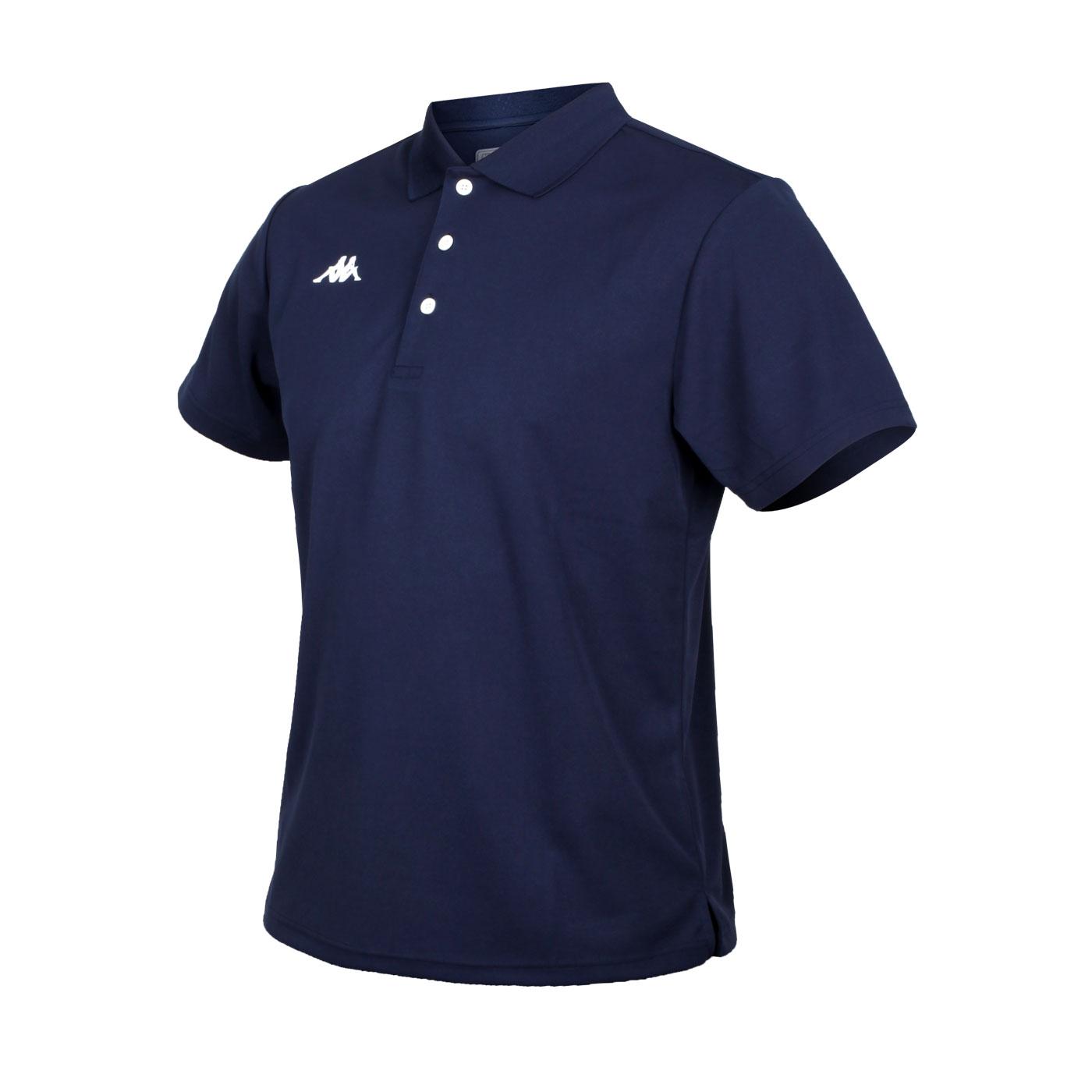 KAPPA 男款K4T短袖POLO衫 321762W-B29 - 丈青白