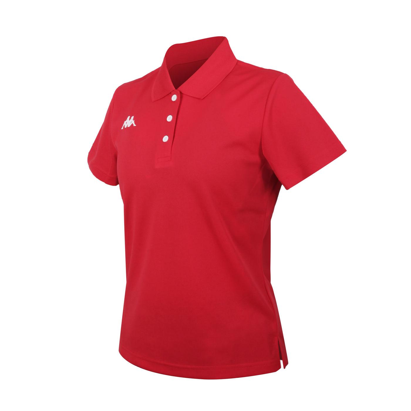 KAPPA 女款K4T短袖POLO衫 321763W-D18 - 紅白