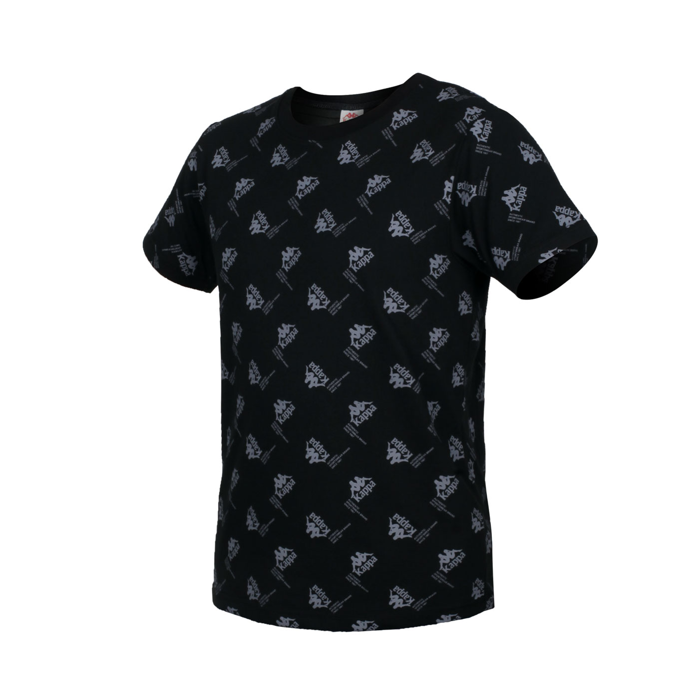 KAPPA 男款短袖T恤 321876W-005 - 黑灰