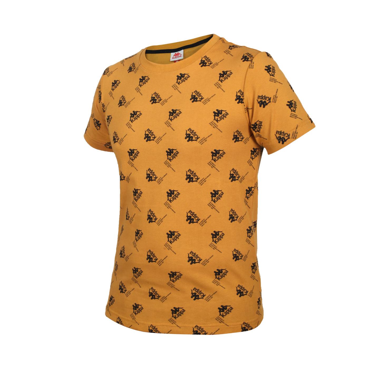 KAPPA 男款短袖T恤 321876W-Z07 - 棕黑