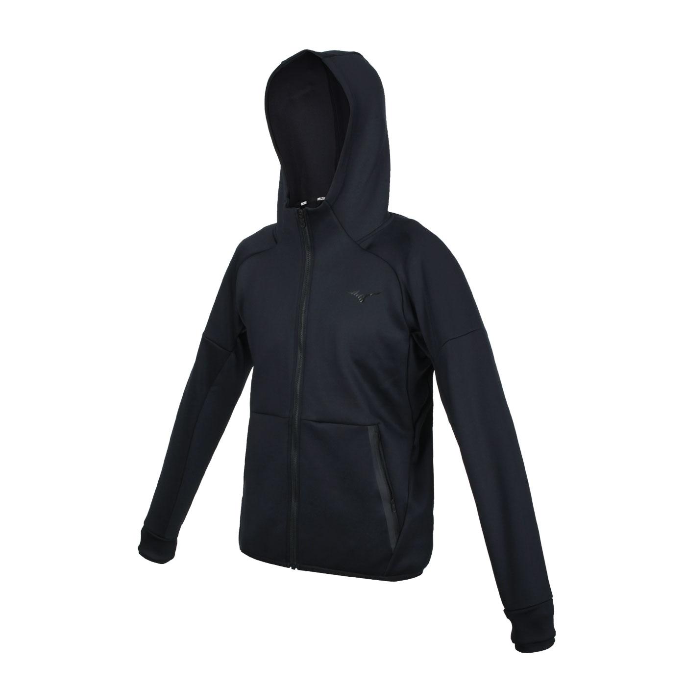 MIZUNO 男款針織外套 32MC155409 - 黑