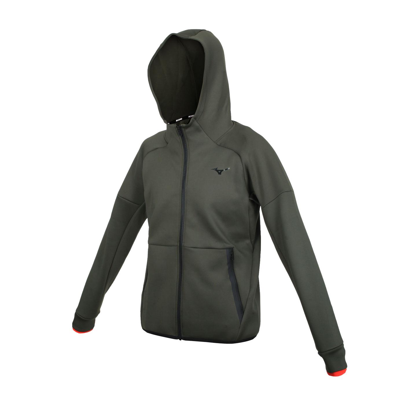 MIZUNO 男款針織外套 32MC155436 - 軍綠黑