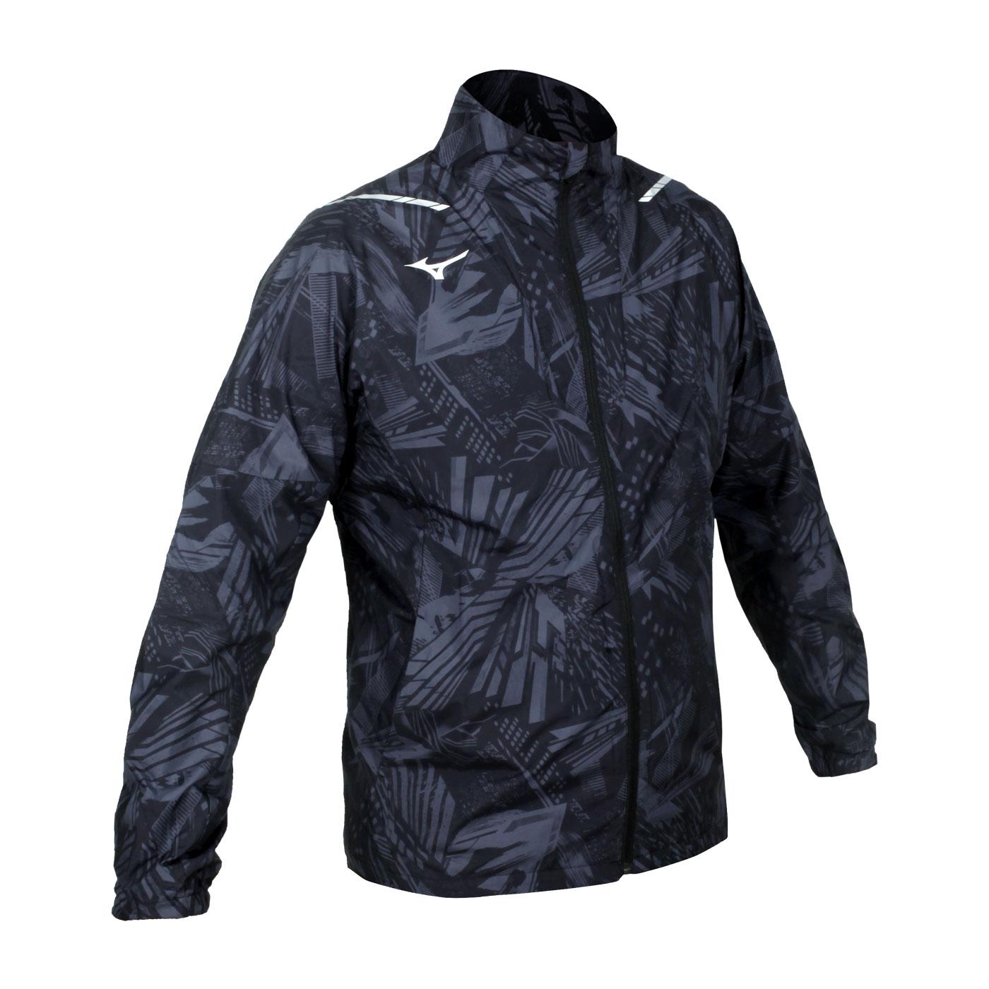 MIZUNO 男款平織運動外套 32ME051008 - 黑灰銀