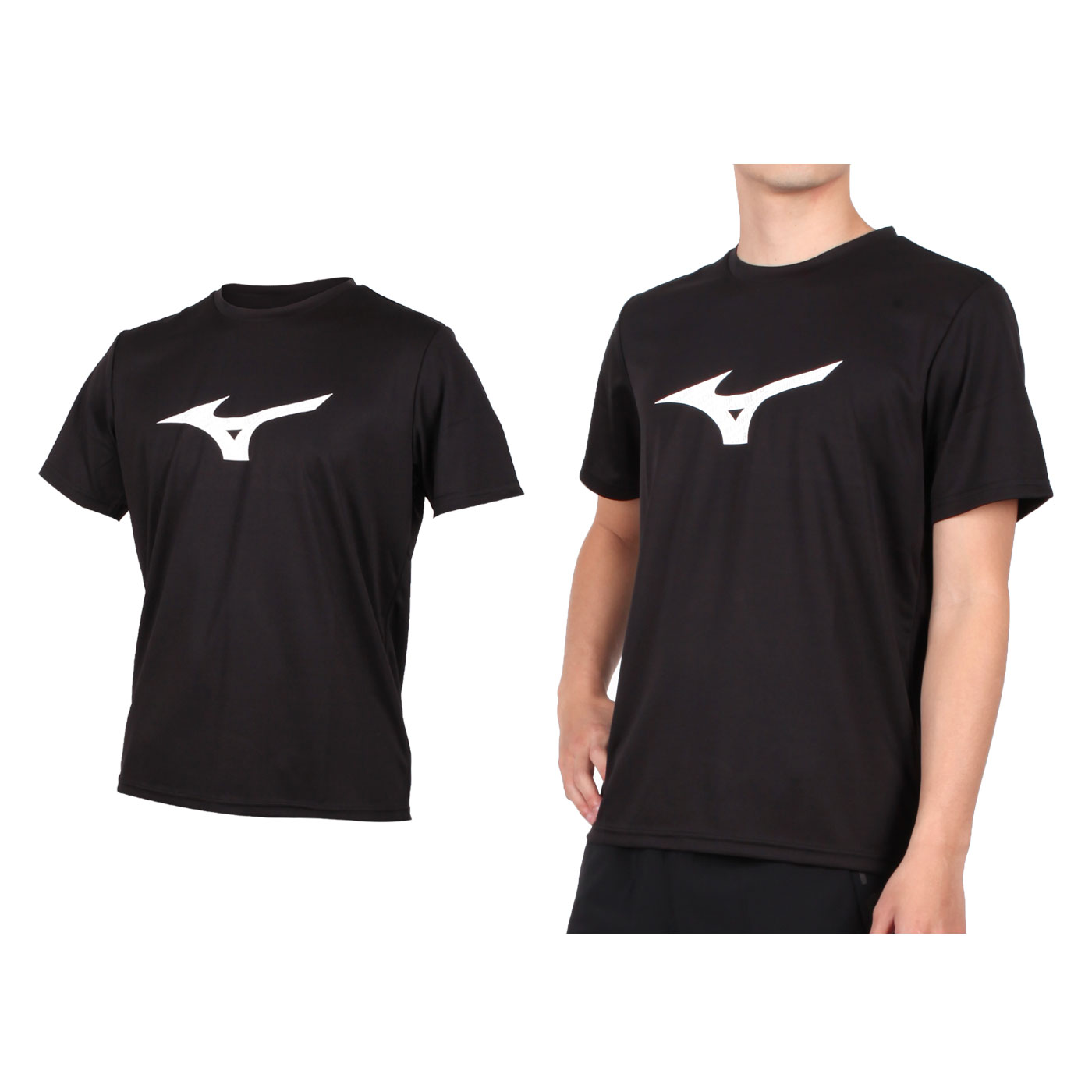 MIZUNO 男款短袖T恤 32TA000109 - 黑白灰