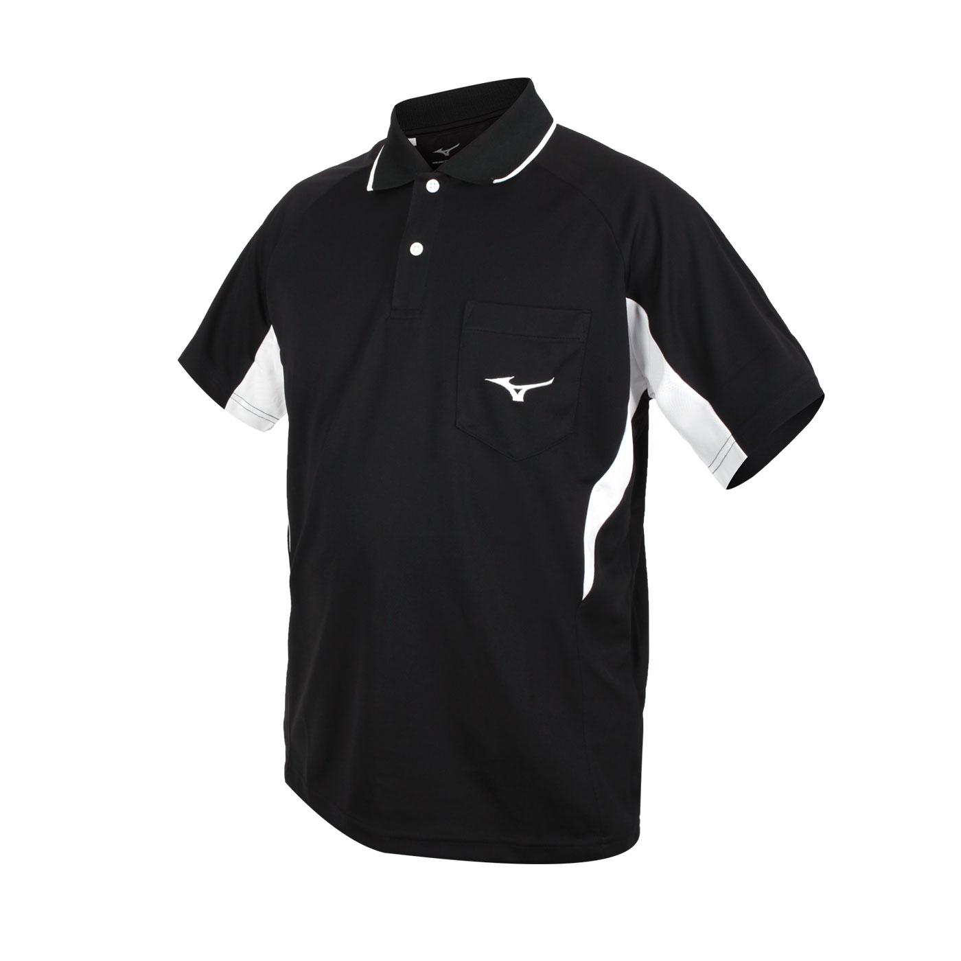 MIZUNO 男款短袖POLO衫 32TA102109 - 黑白