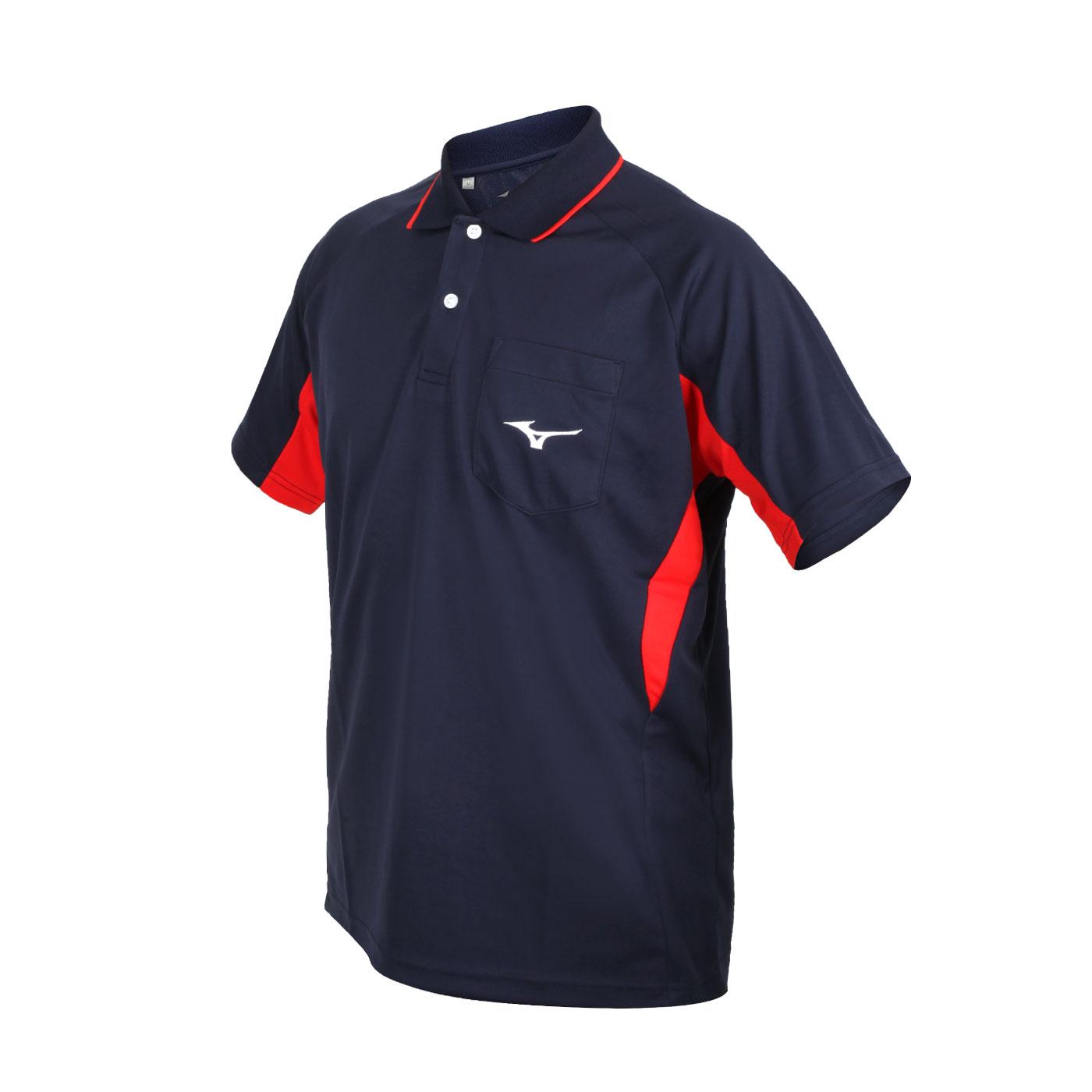 MIZUNO 男款短袖POLO衫 32TA102114 - 丈青紅白
