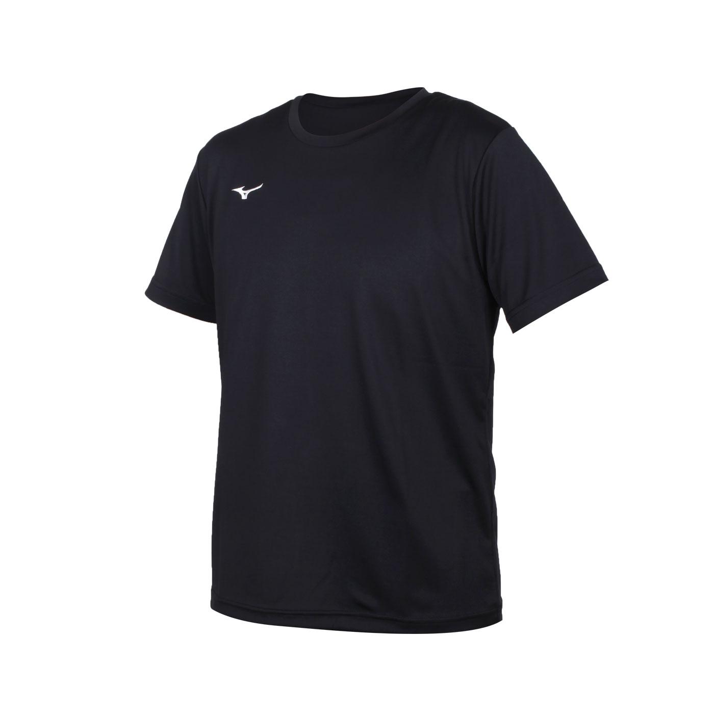 MIZUNO 男款短袖T恤 32TA150709 - 黑白